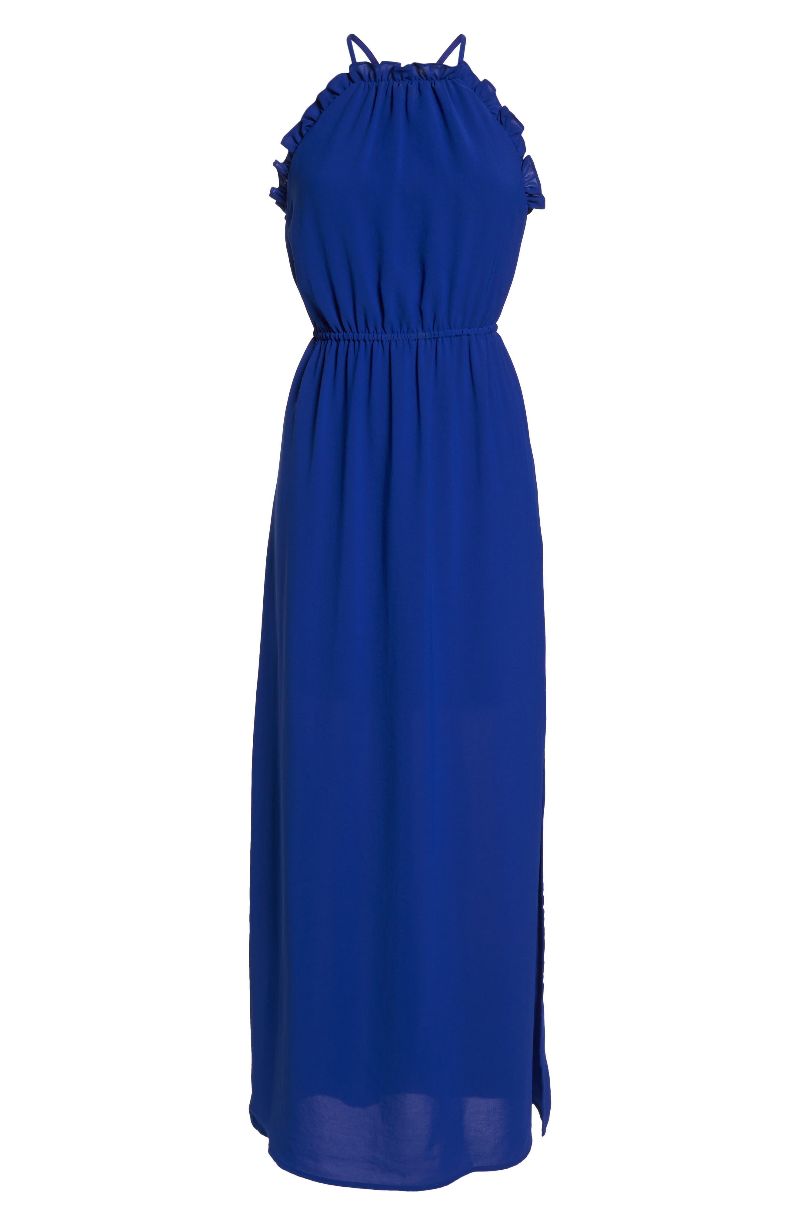 Crepe Blouson Maxi Dress,                             Alternate thumbnail 7, color,                             414