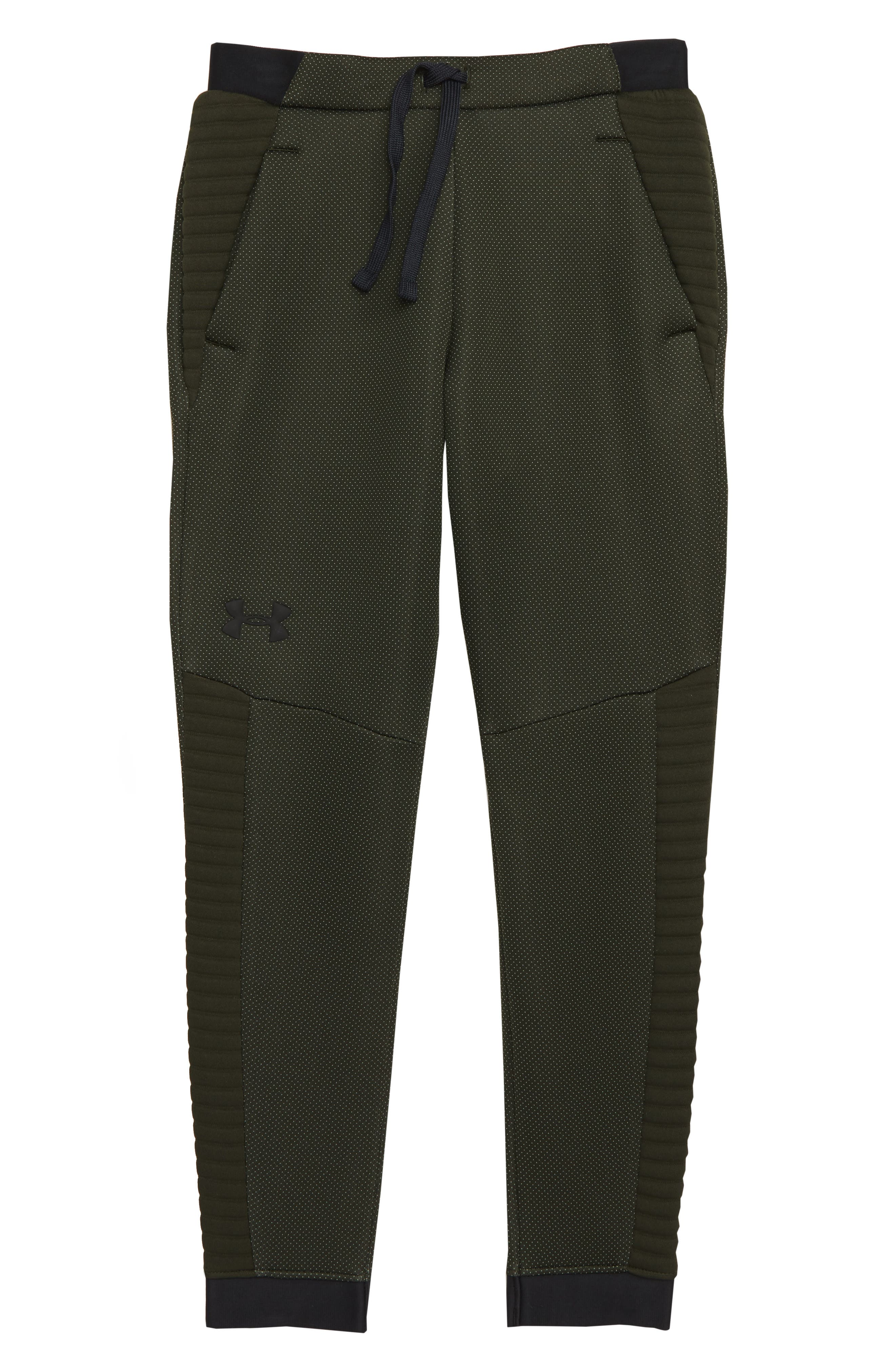 Boys Under Armour Unstoppable Move Pants Size L (14)  Green