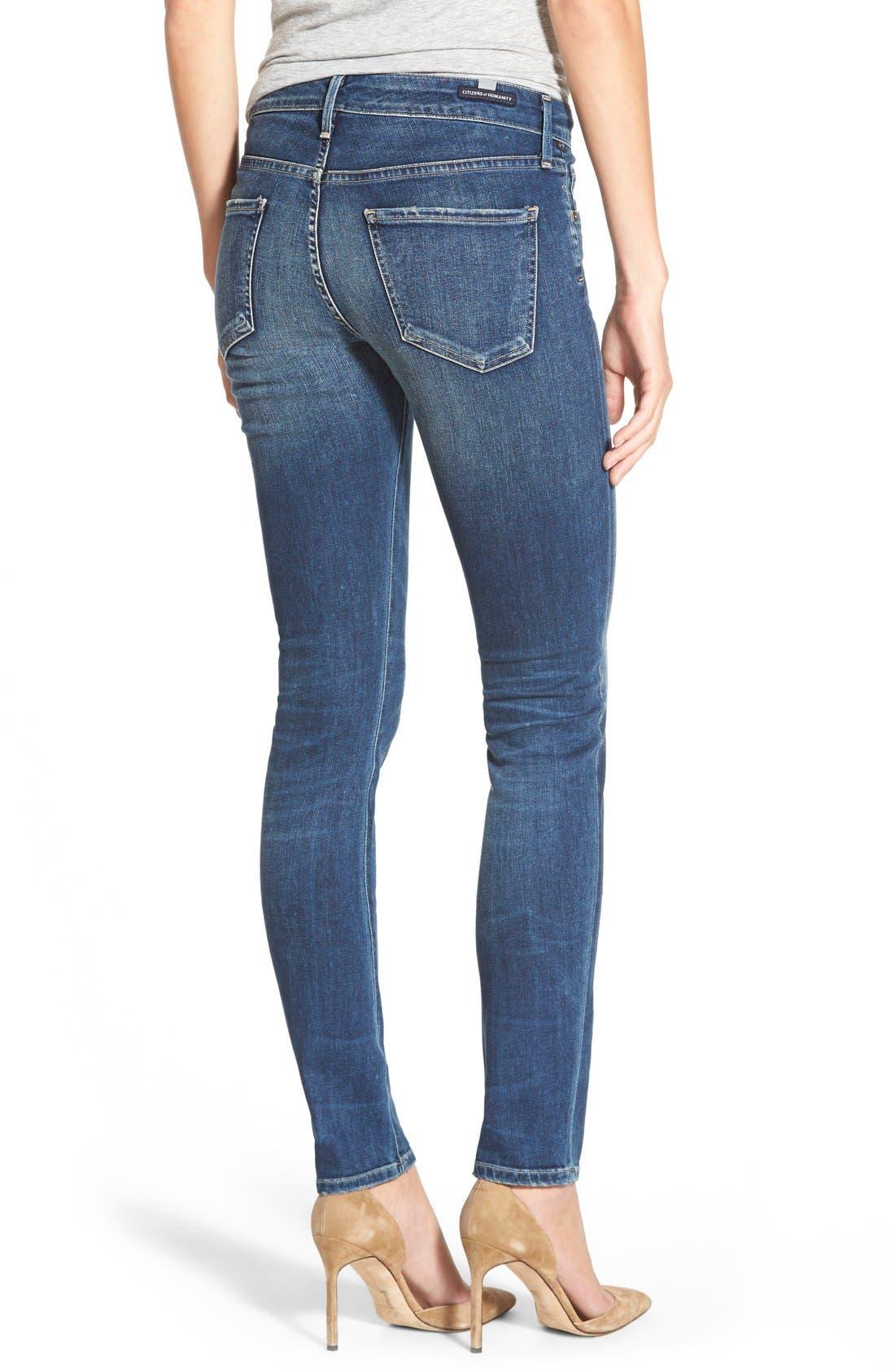 'Arielle' Skinny Jeans,                             Alternate thumbnail 4, color,                             400