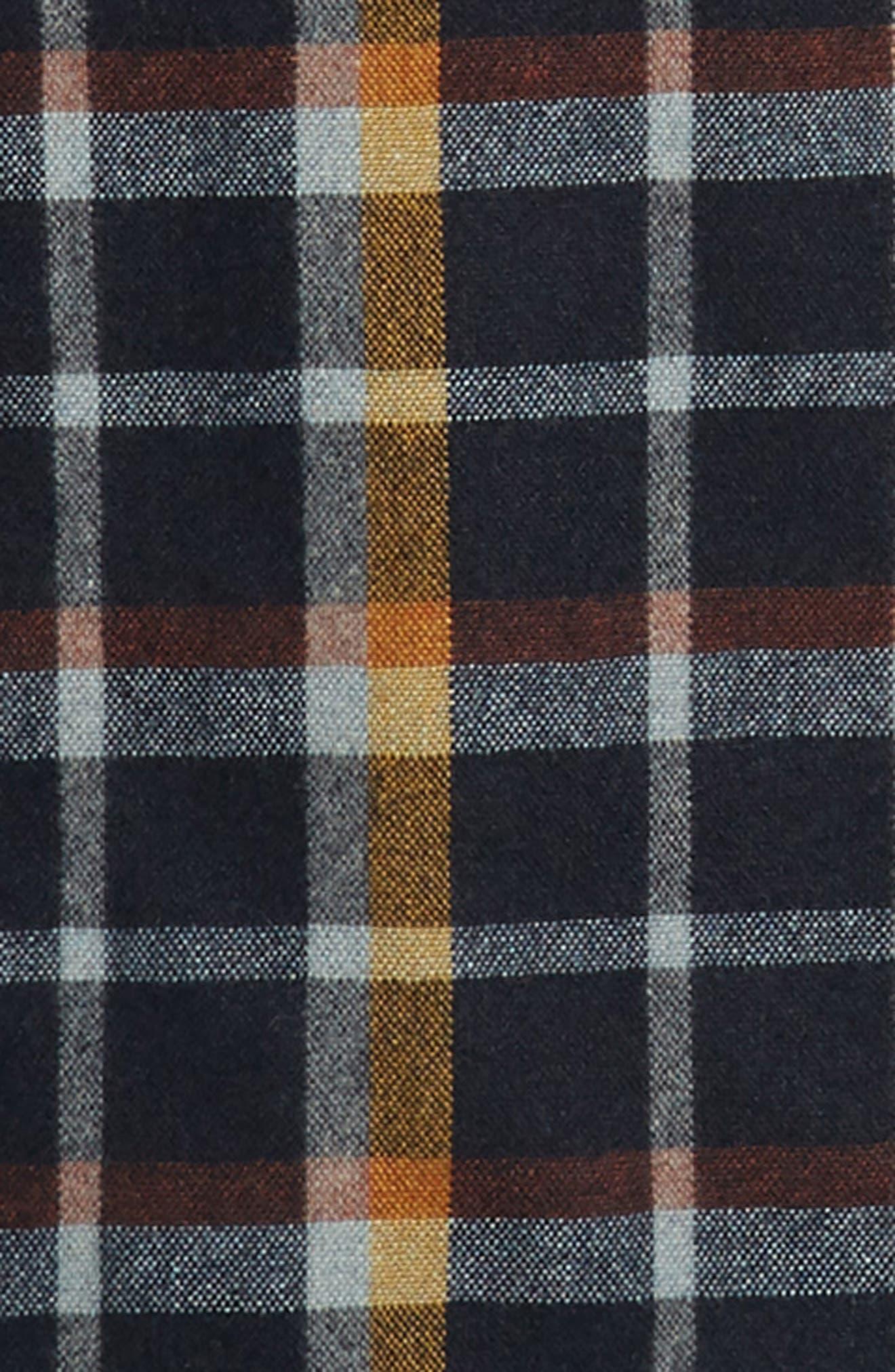 Recycled Wool Blend Shirt,                             Alternate thumbnail 6, color,                             REBEL PLAID/ NAVY BLUE