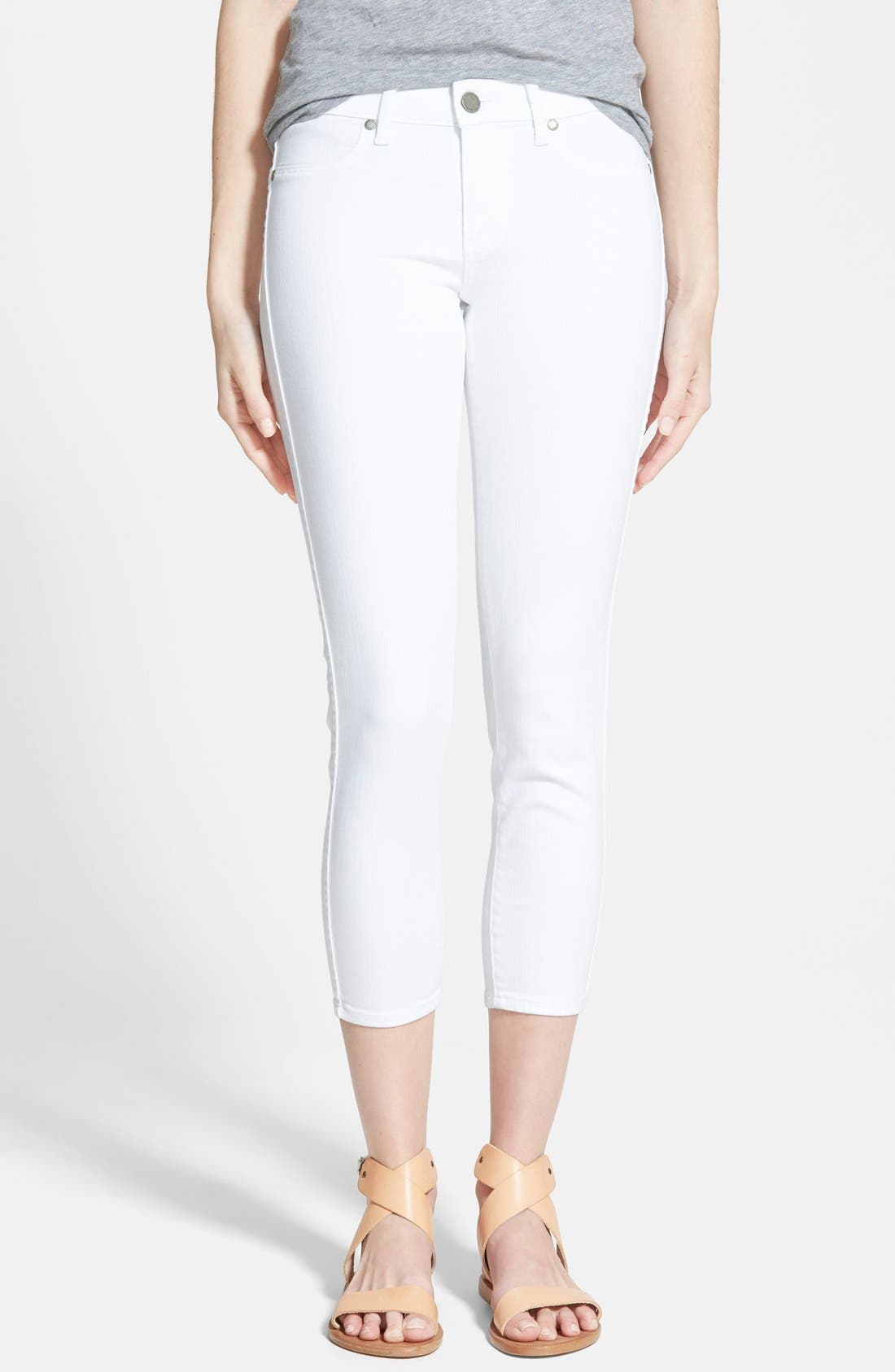 'Verdugo' Crop Skinny Jeans,                             Main thumbnail 1, color,                             ULTRA WHITE