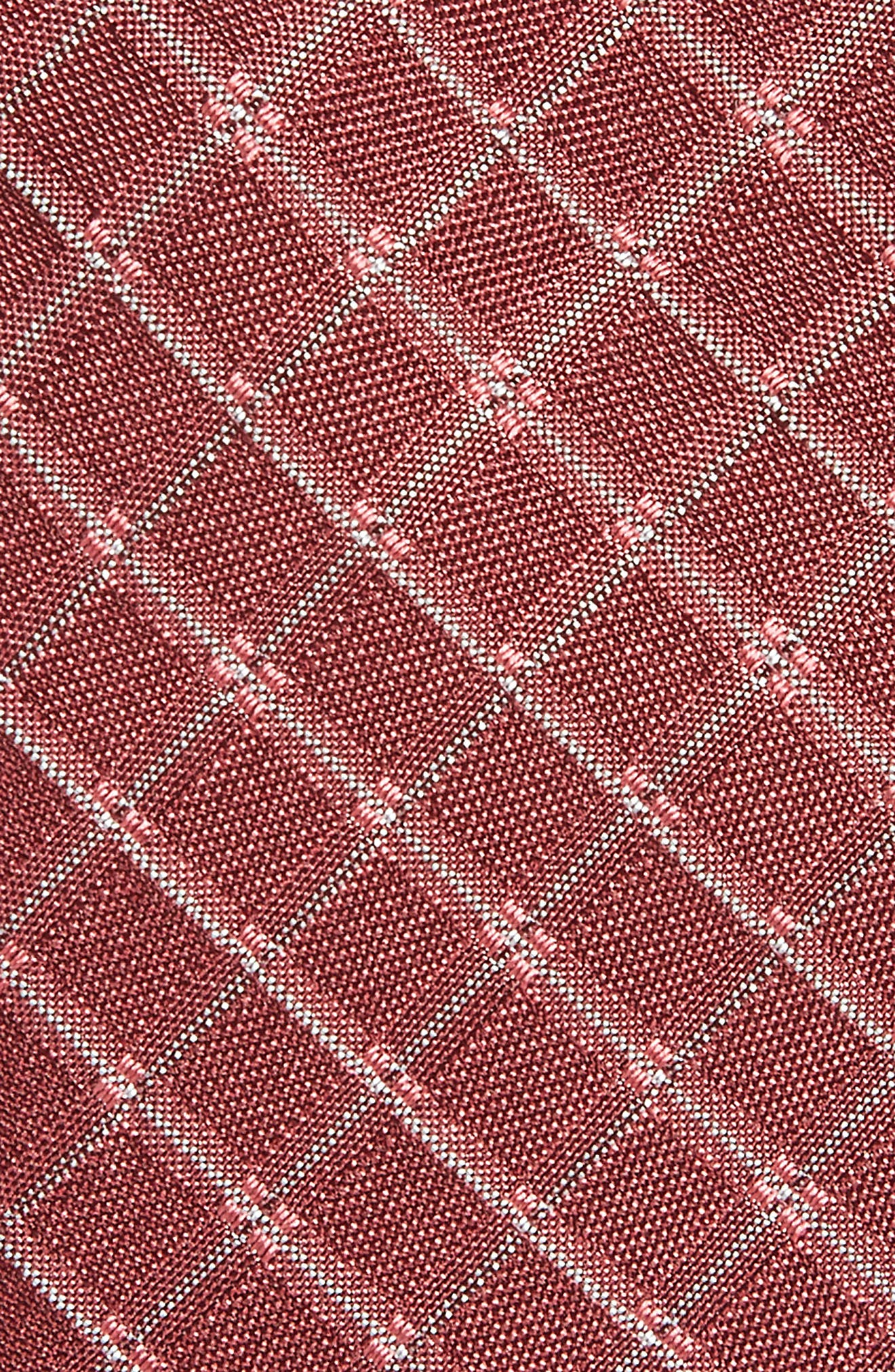 Plaid Silk Skinny Tie,                             Alternate thumbnail 4, color,