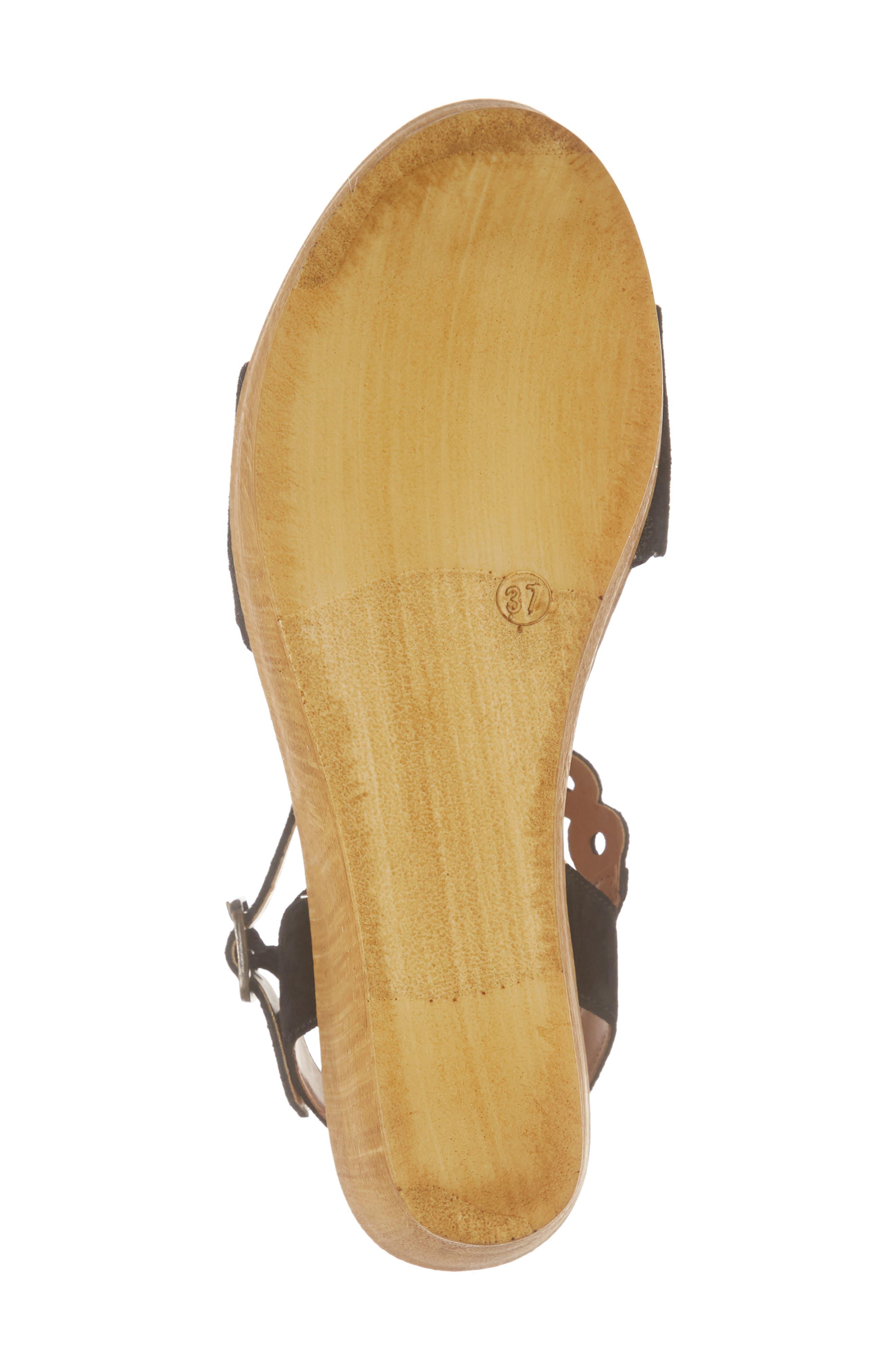 Chrysler Platform Wedge Sandal,                             Alternate thumbnail 6, color,                             017