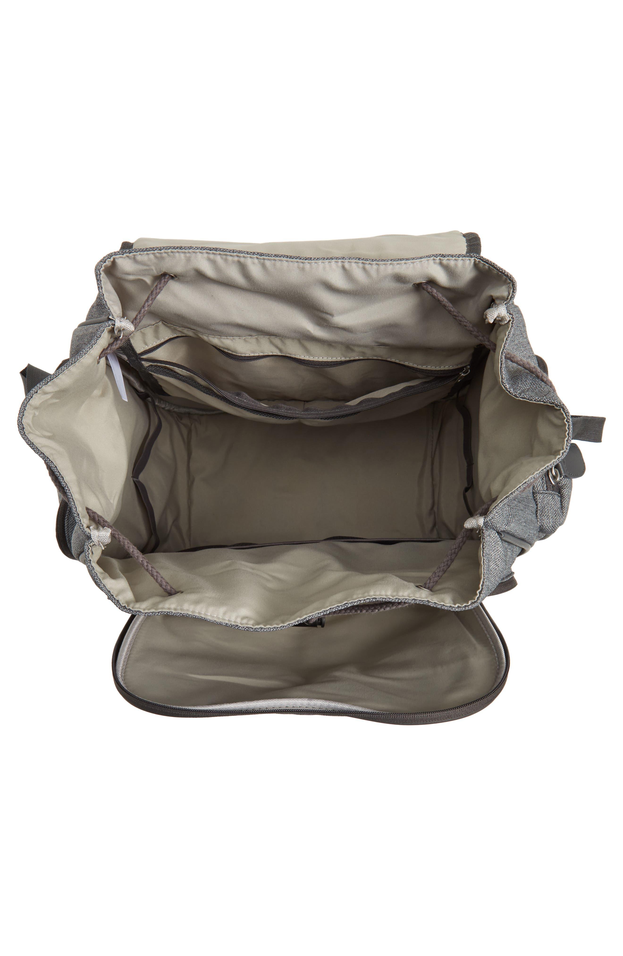 Glober Water Resistant Diaper Backpack,                             Alternate thumbnail 5, color,                             SMOKEY