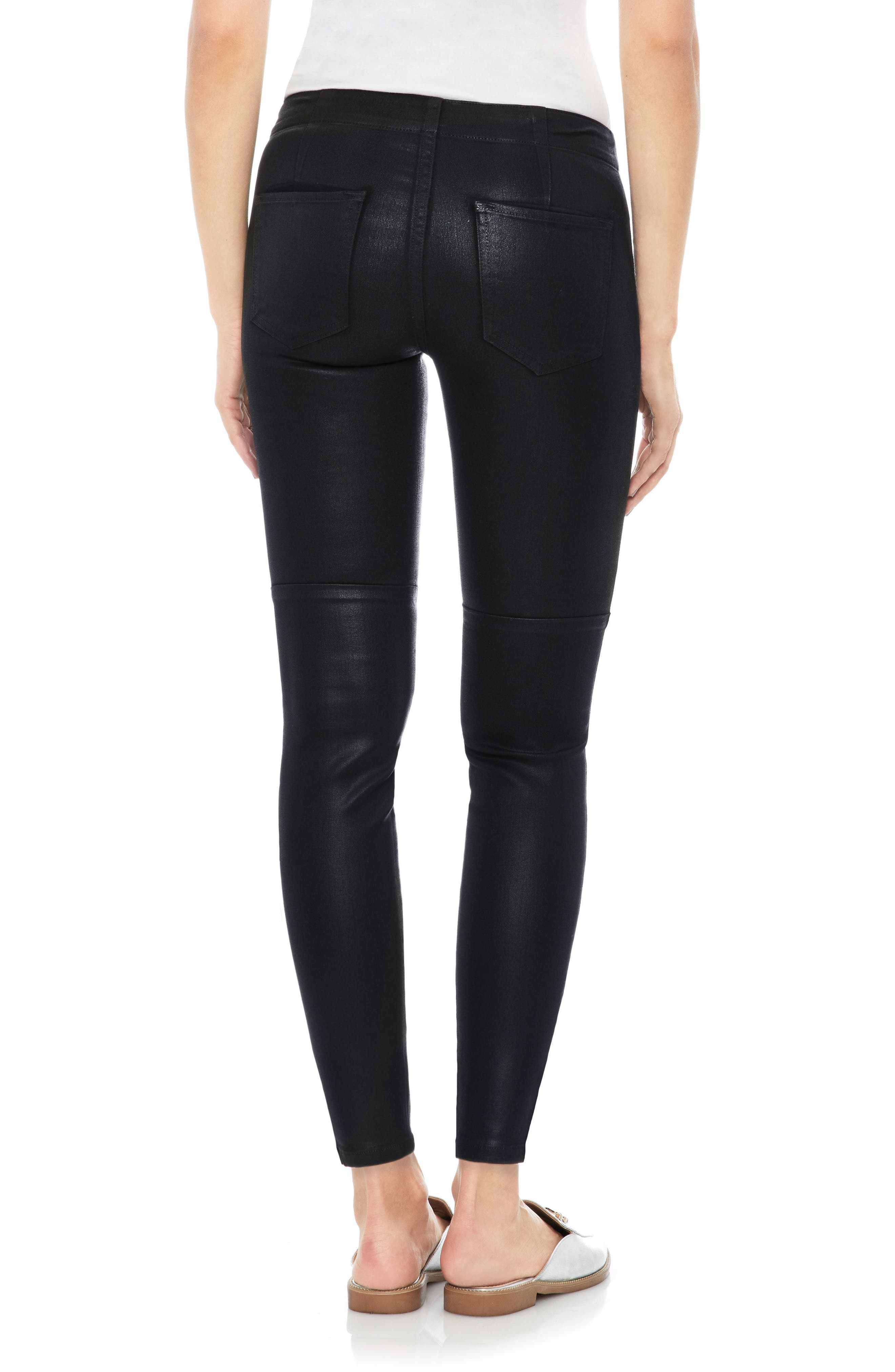 Taylor Hill x Joe's Icon Coated Ankle Skinny Pants,                             Alternate thumbnail 2, color,                             011