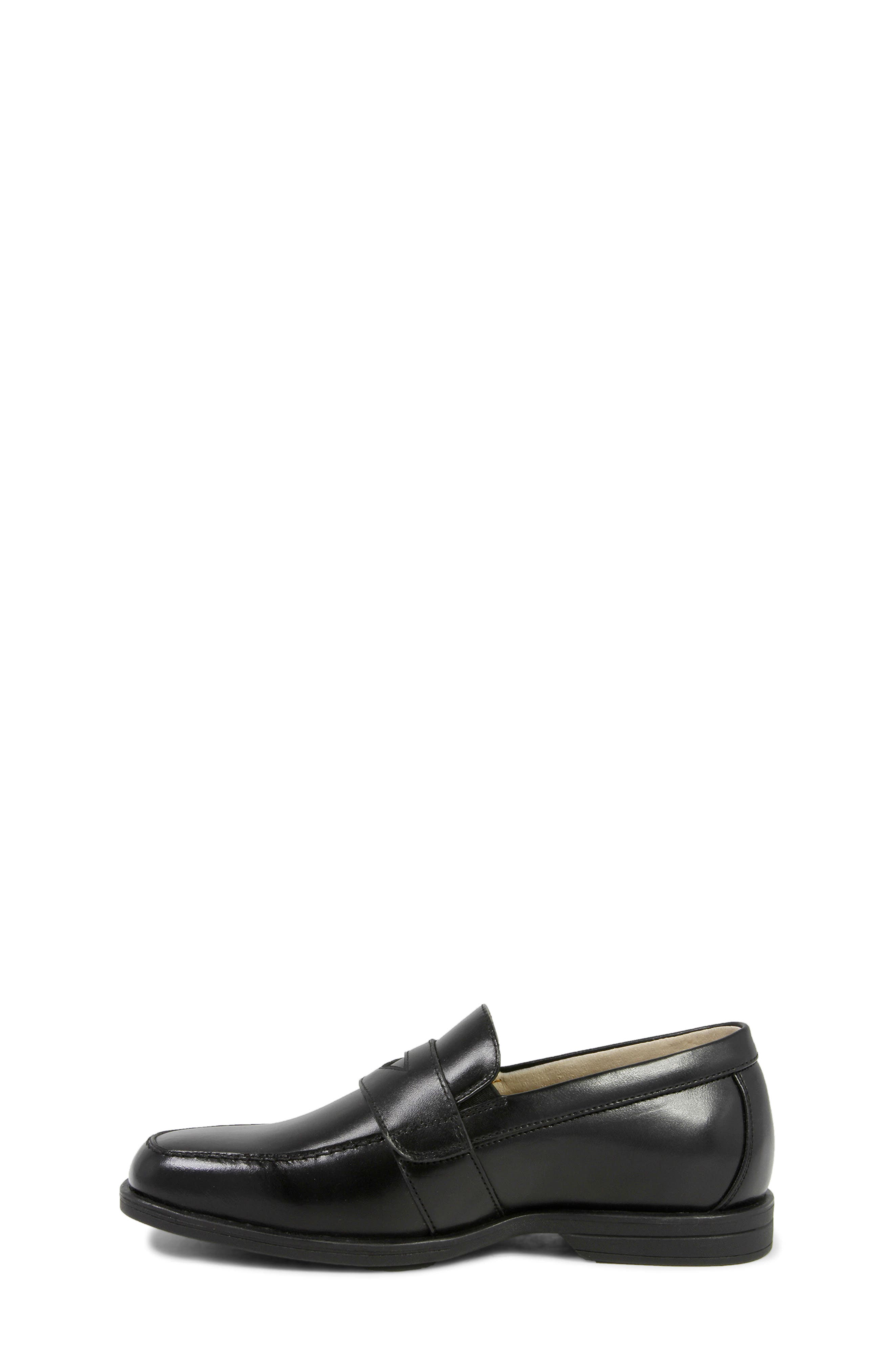 'Reveal' Penny Loafer,                             Alternate thumbnail 7, color,                             BLACK