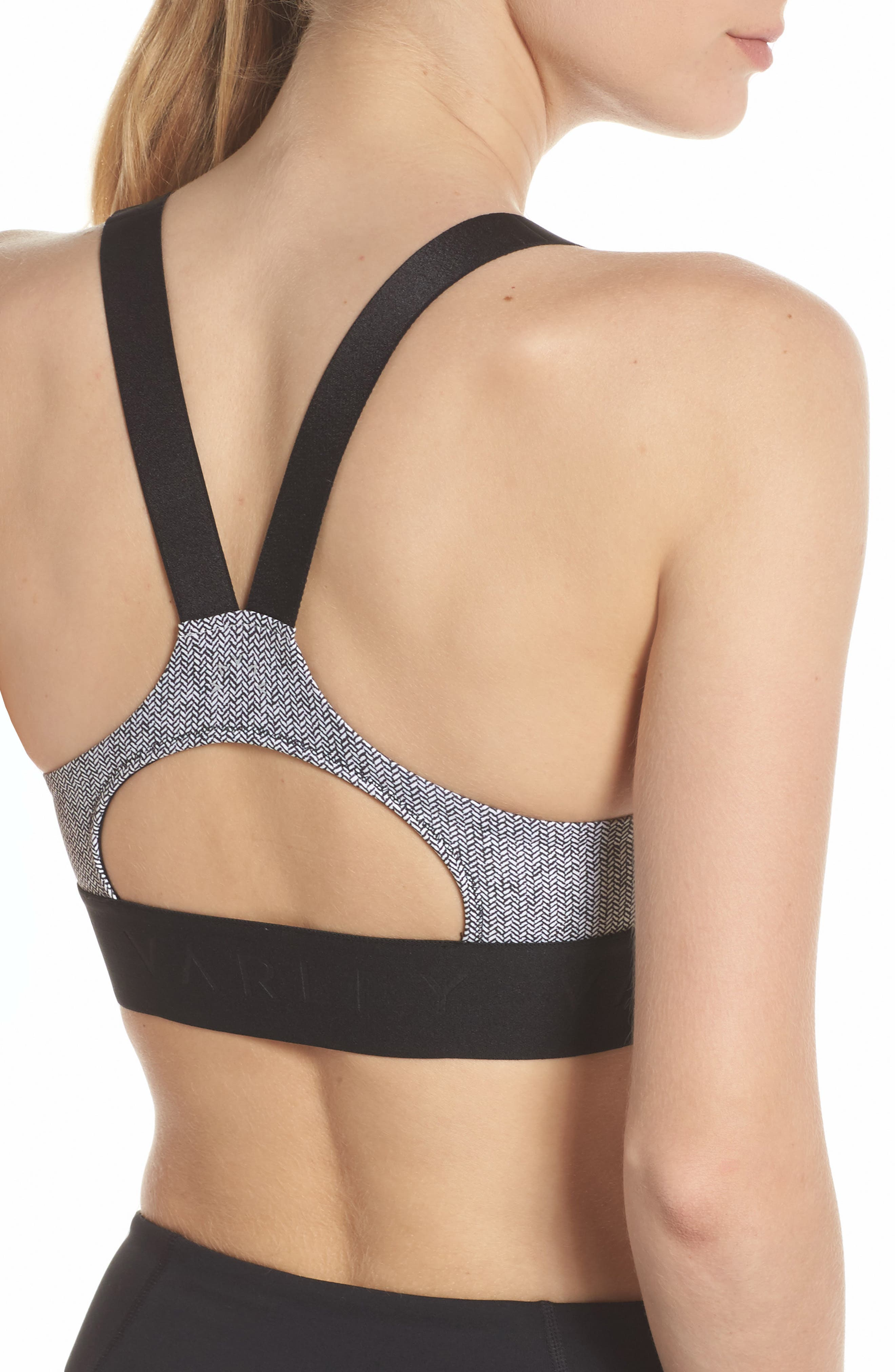 Gale Sports Bra,                             Alternate thumbnail 4, color,                             001