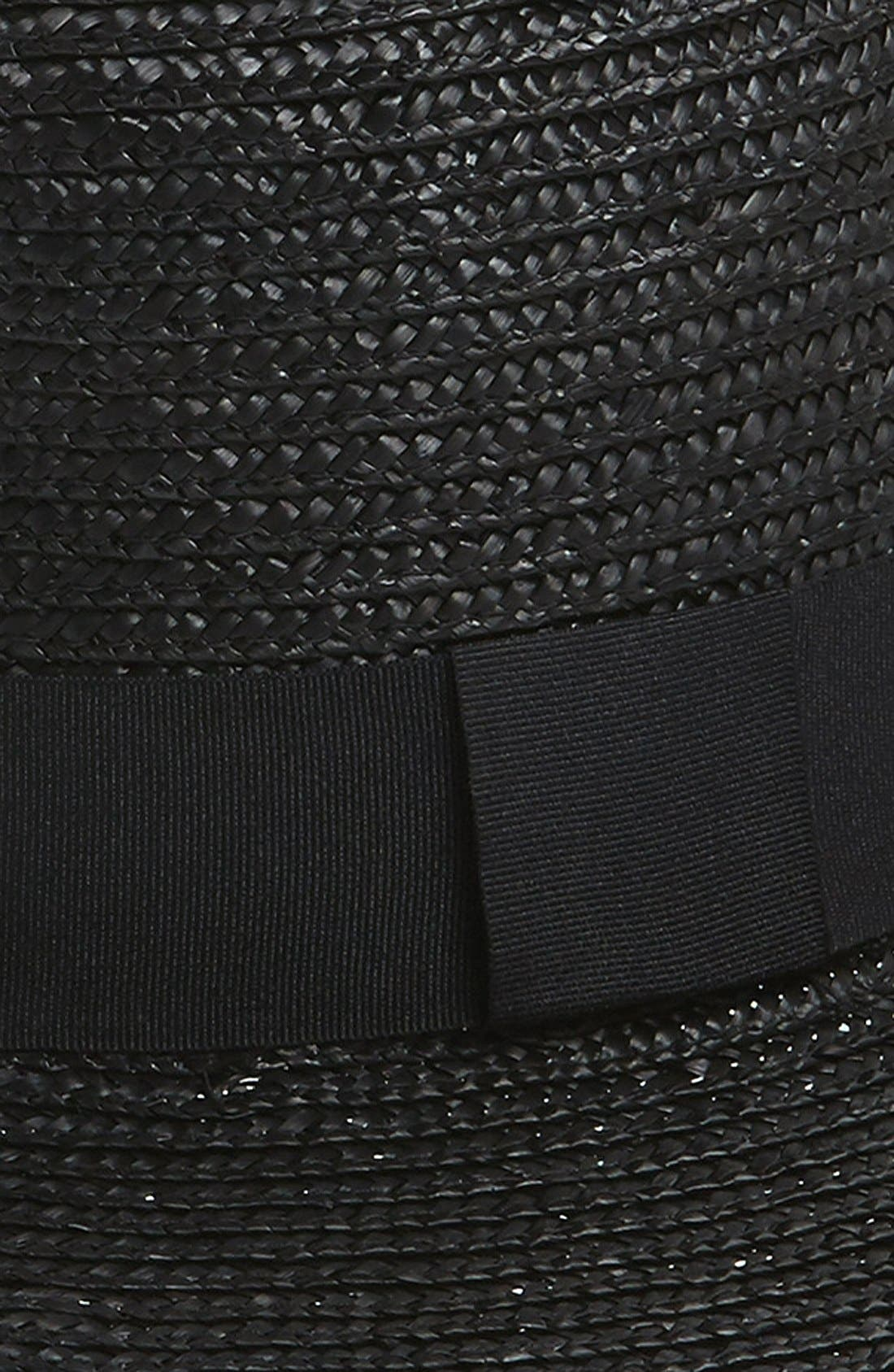 Wide Brim Boater Hat,                             Alternate thumbnail 2, color,                             001