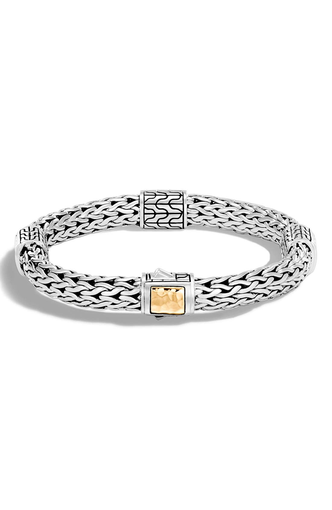 'Classic Chain' Station Medium Bracelet,                         Main,                         color, SILVER/ GOLD