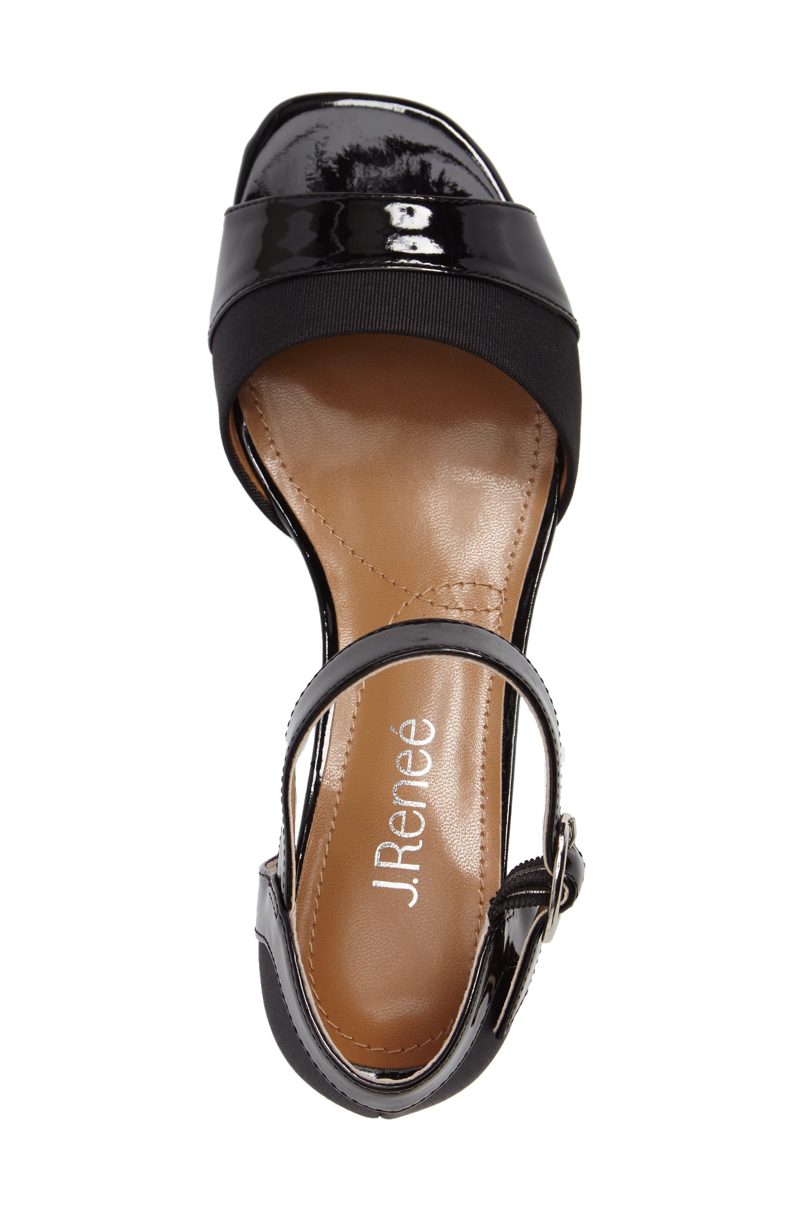 Pebblebeach Block Heel Sandal,                             Alternate thumbnail 3, color,                             001