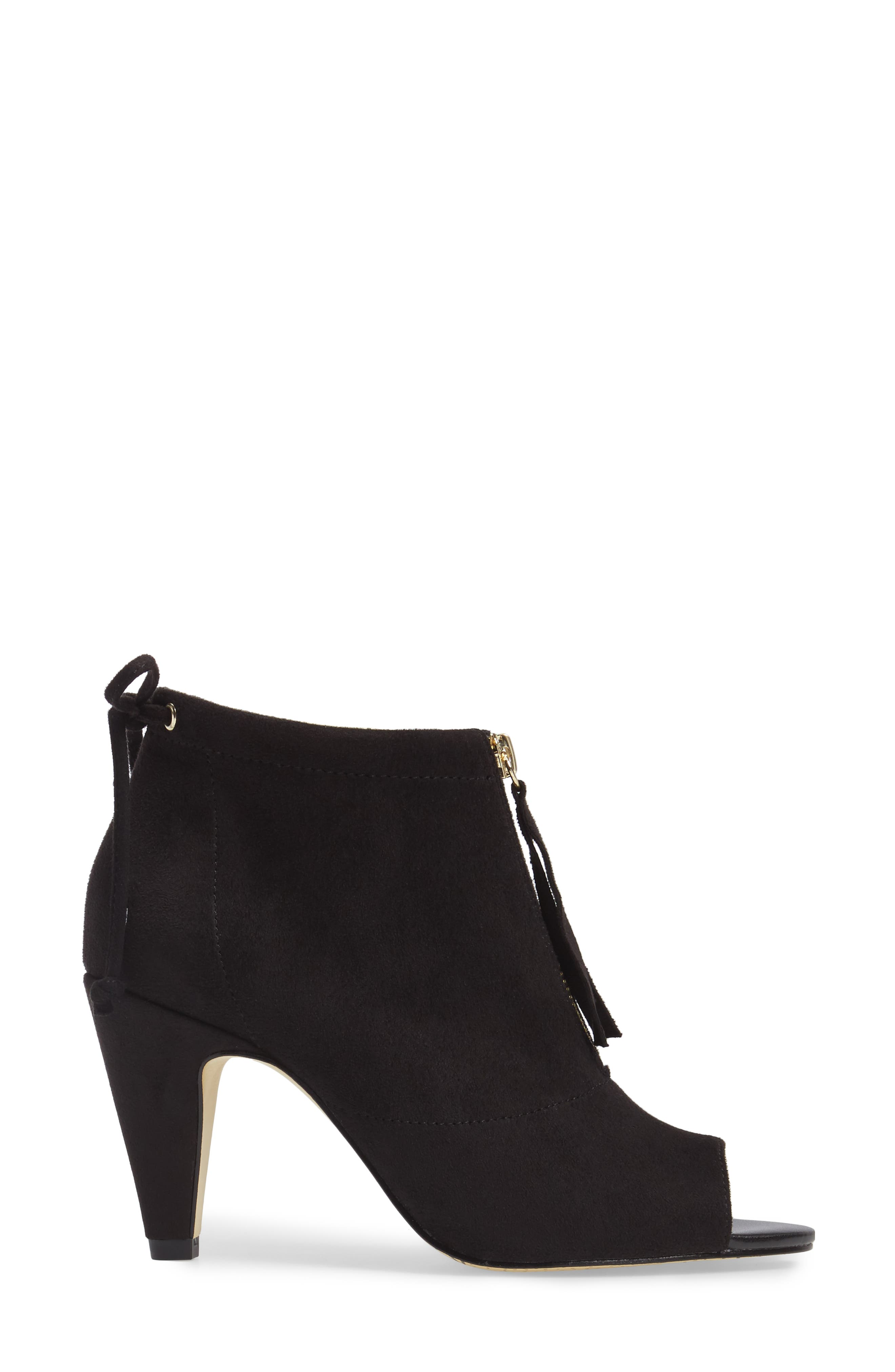 Nicky II Zip Front Bootie,                             Alternate thumbnail 3, color,                             018