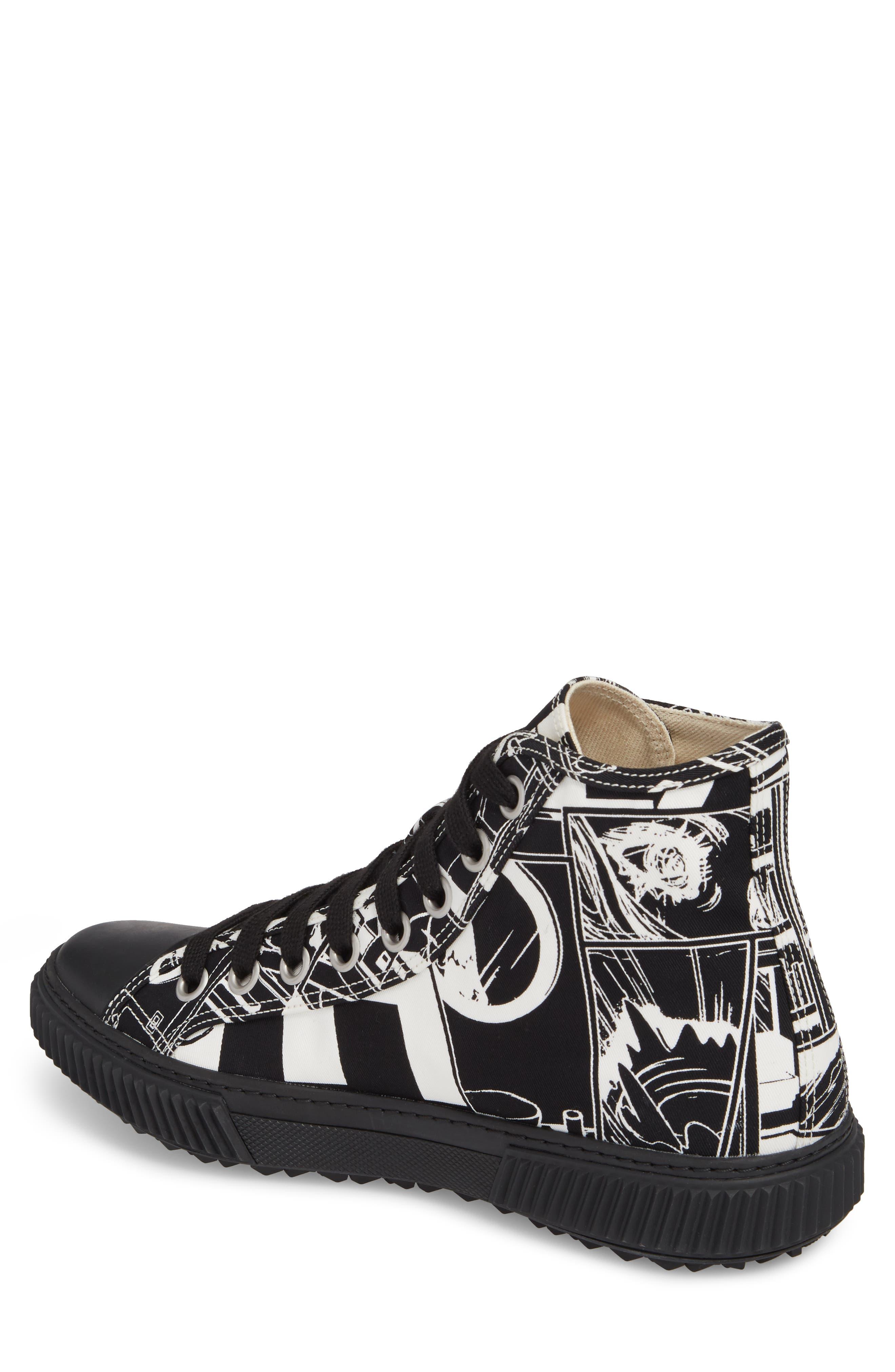 Comic Print High Top Sneaker,                             Alternate thumbnail 2, color,                             013