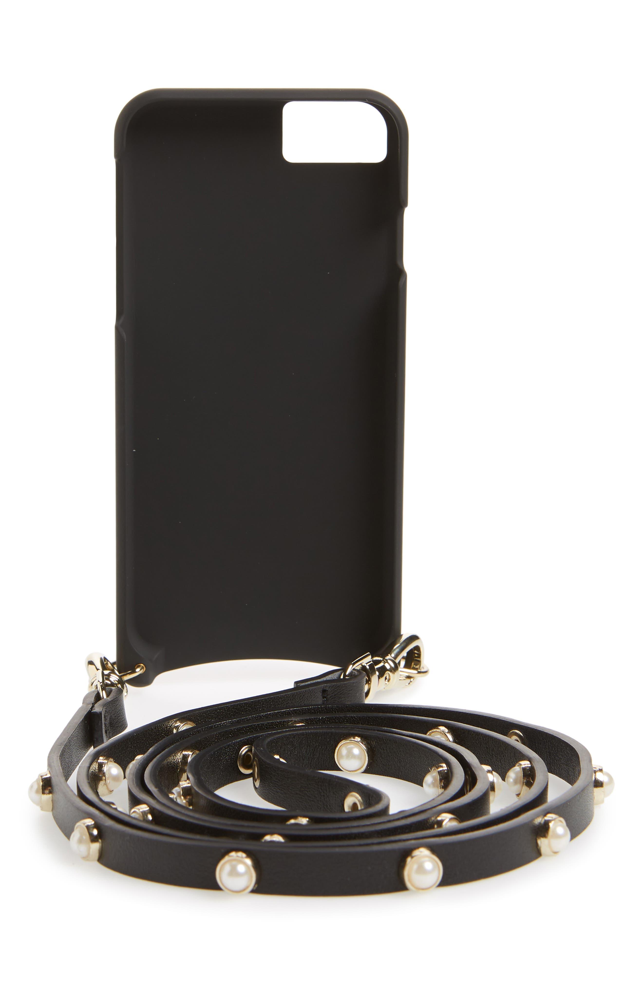 Claire Leather iPhone 7/8 & 7/8 Plus Crossbody Case,                             Alternate thumbnail 5, color,