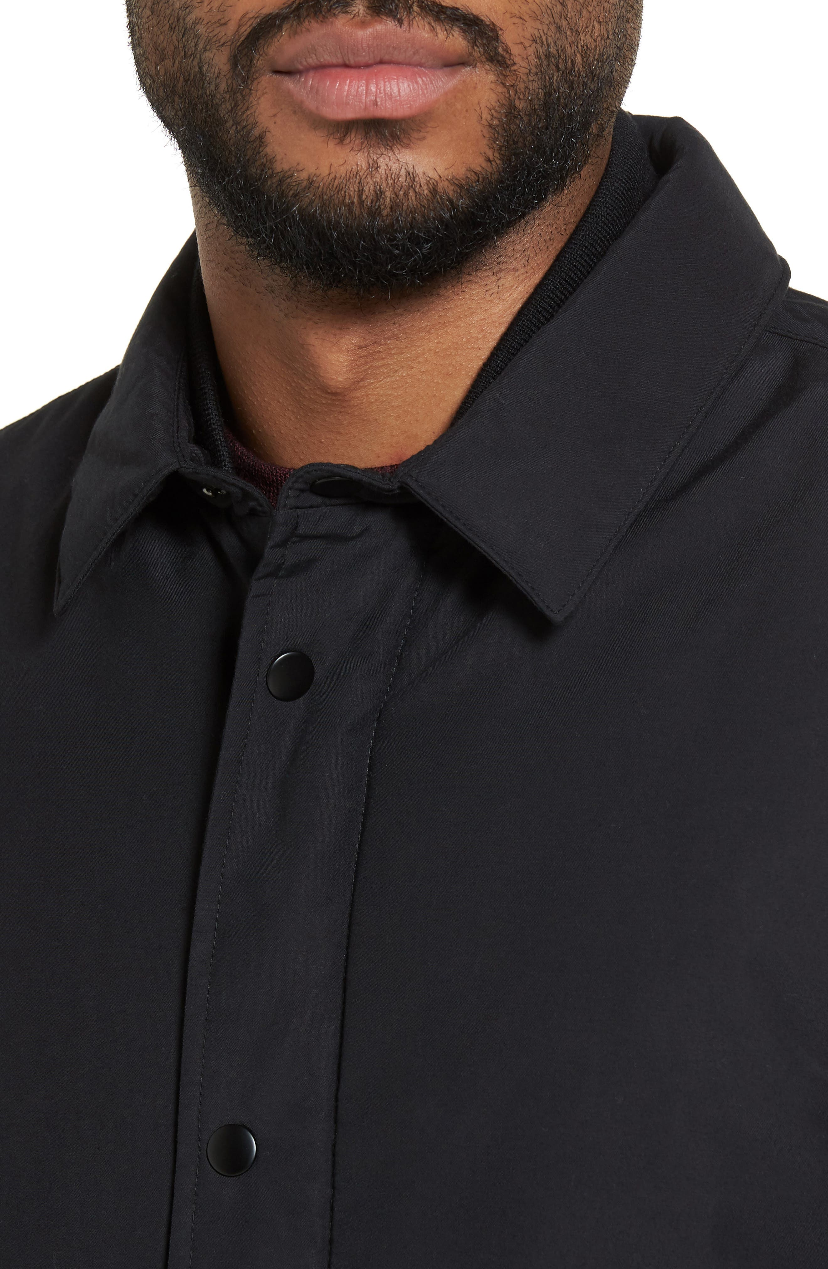 Collared Bomber Jacket,                             Alternate thumbnail 4, color,                             001