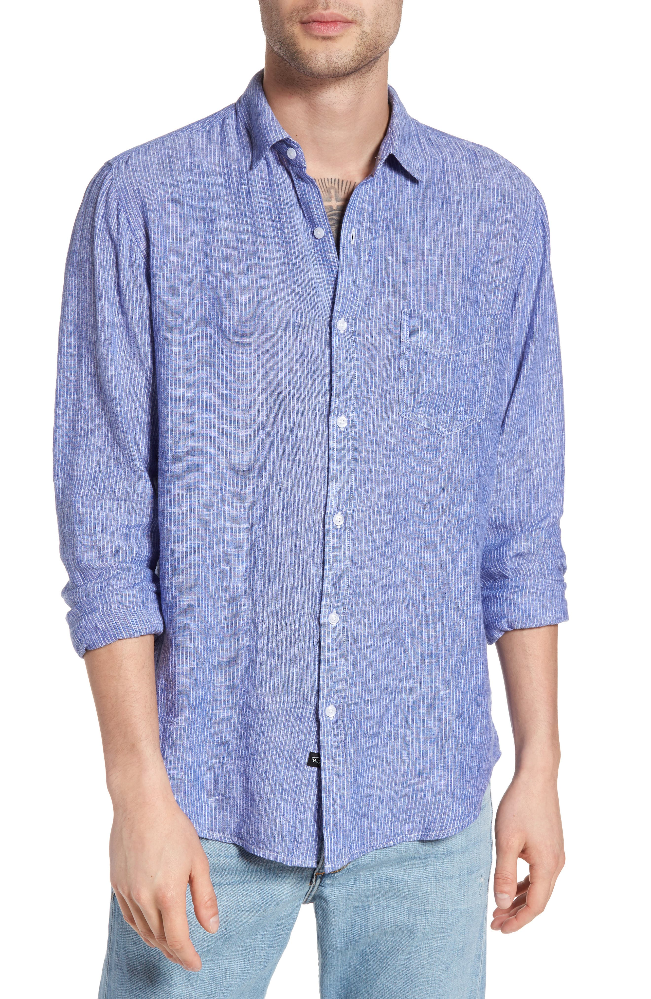 Connor Linen & Rayon Shirt,                             Main thumbnail 2, color,