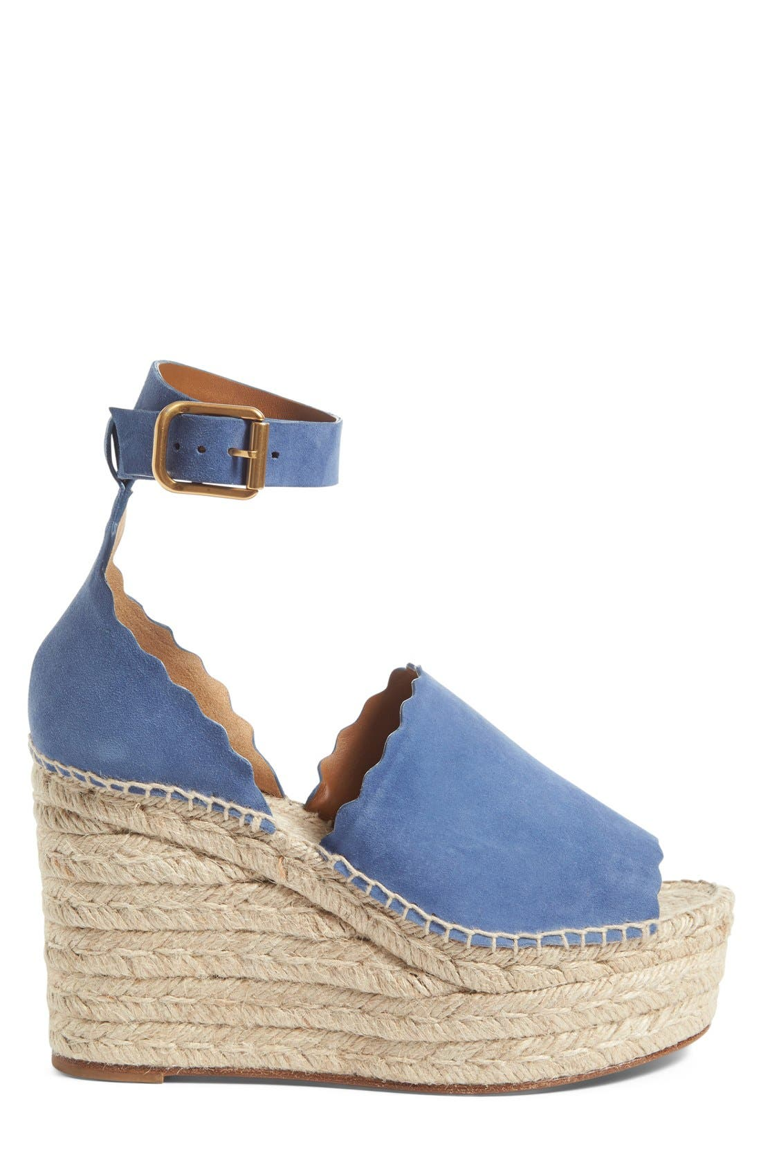 Lauren Espadrille Wedge Sandal,                             Alternate thumbnail 6, color,
