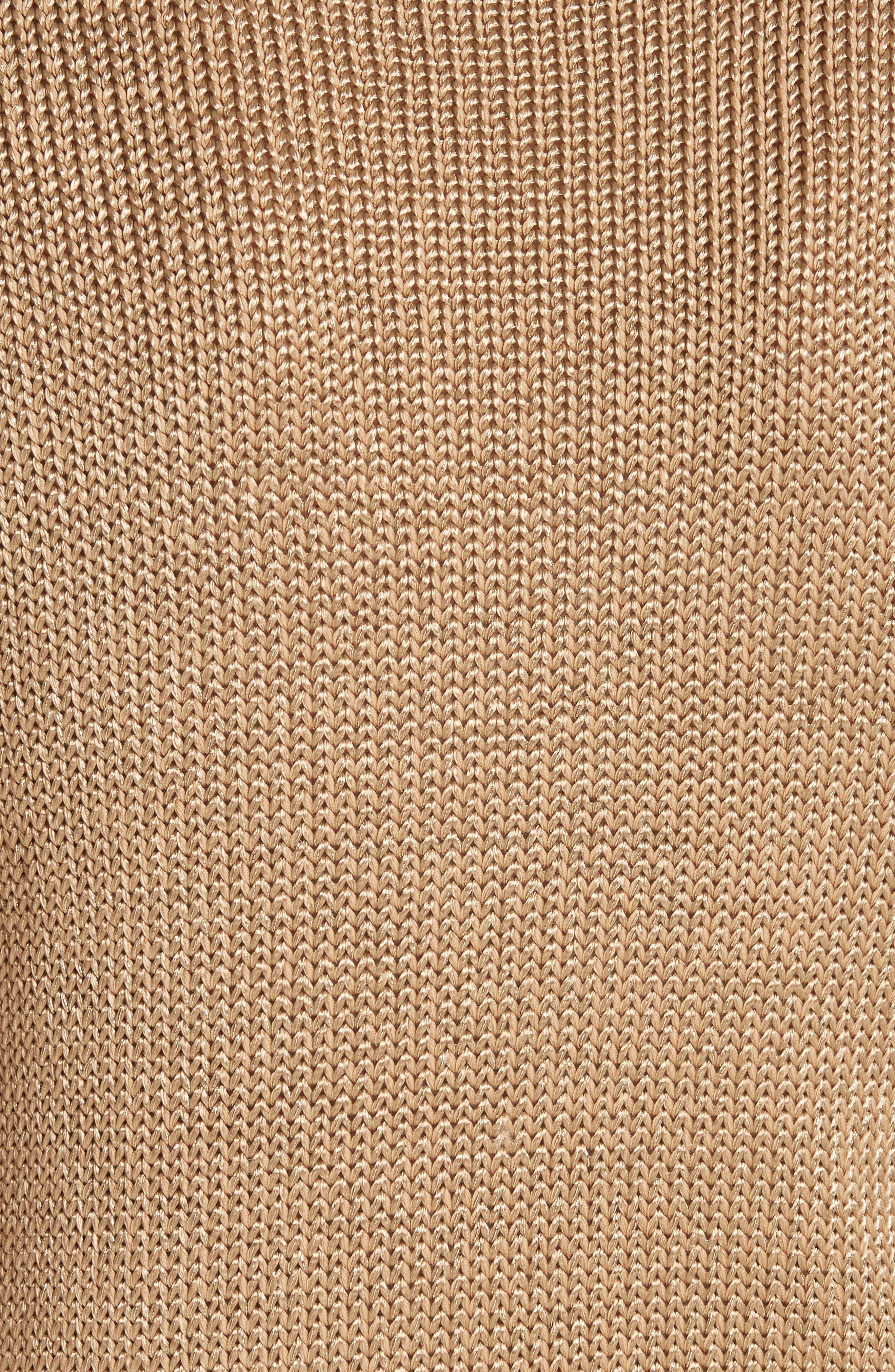 Metallic Cotton Blend Flag Sweater,                             Alternate thumbnail 5, color,                             GOLD MULTI