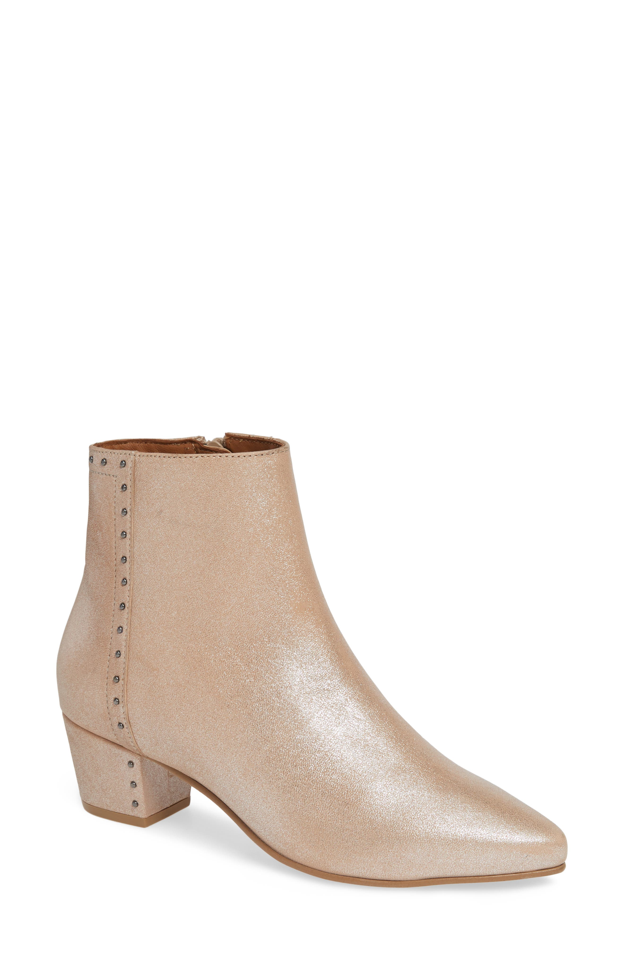 SEYCHELLES,                             Wake Up Bootie,                             Main thumbnail 1, color,                             BLUSH METALLIC LEATHER