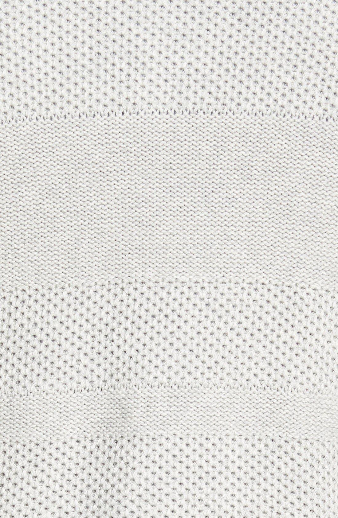 Texture Cotton & Cashmere Quarter Zip Sweater,                             Alternate thumbnail 7, color,                             050