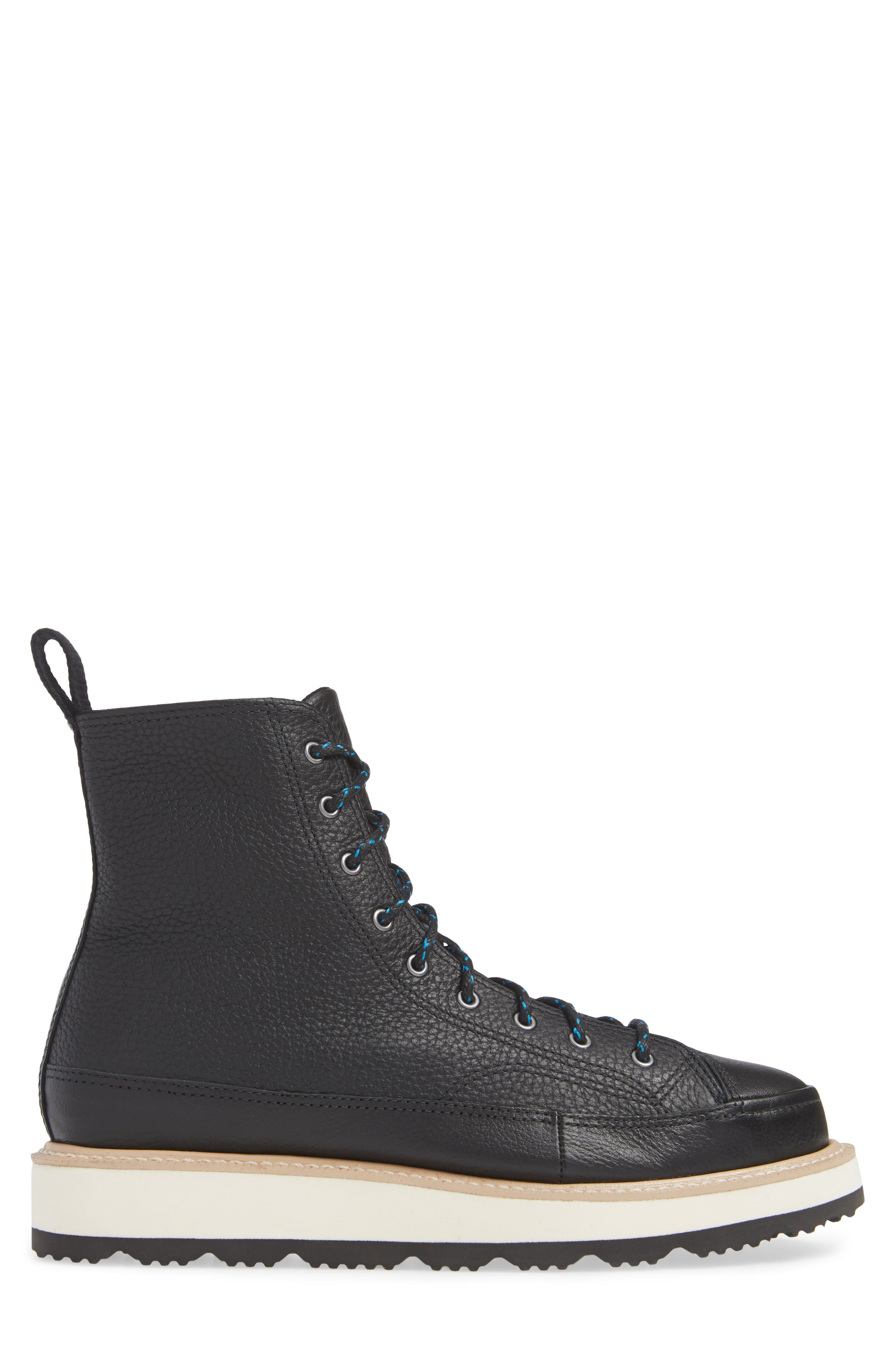 Chuck Taylor<sup>®</sup> Crafted Boot,                             Alternate thumbnail 3, color,                             BLACK/ LIGHT FAWN/ BLACK