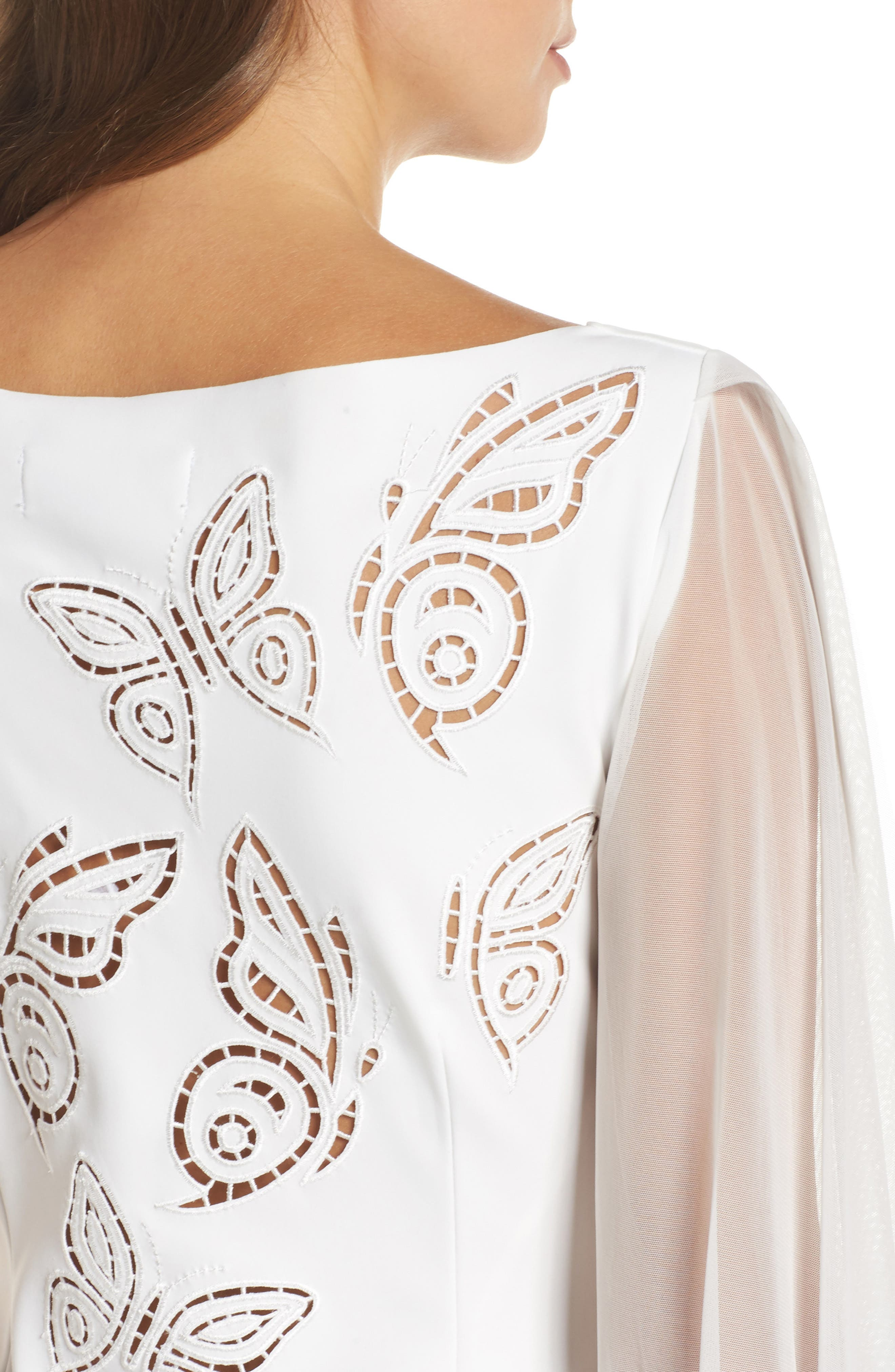 Dress Cutwork Back Gown,                             Alternate thumbnail 4, color,                             100