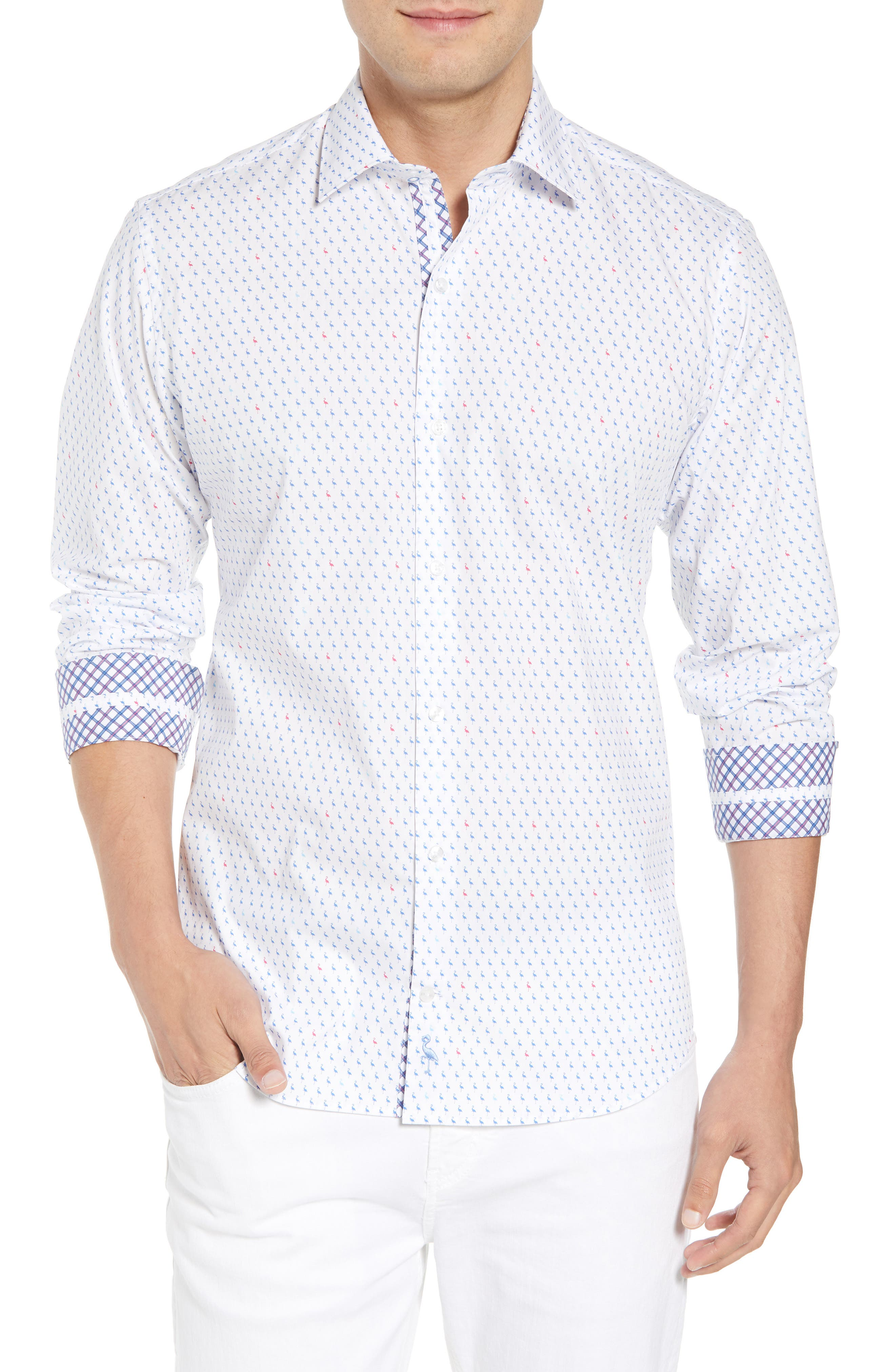 Auden Regular Fit Print Sport Shirt,                         Main,                         color, 490