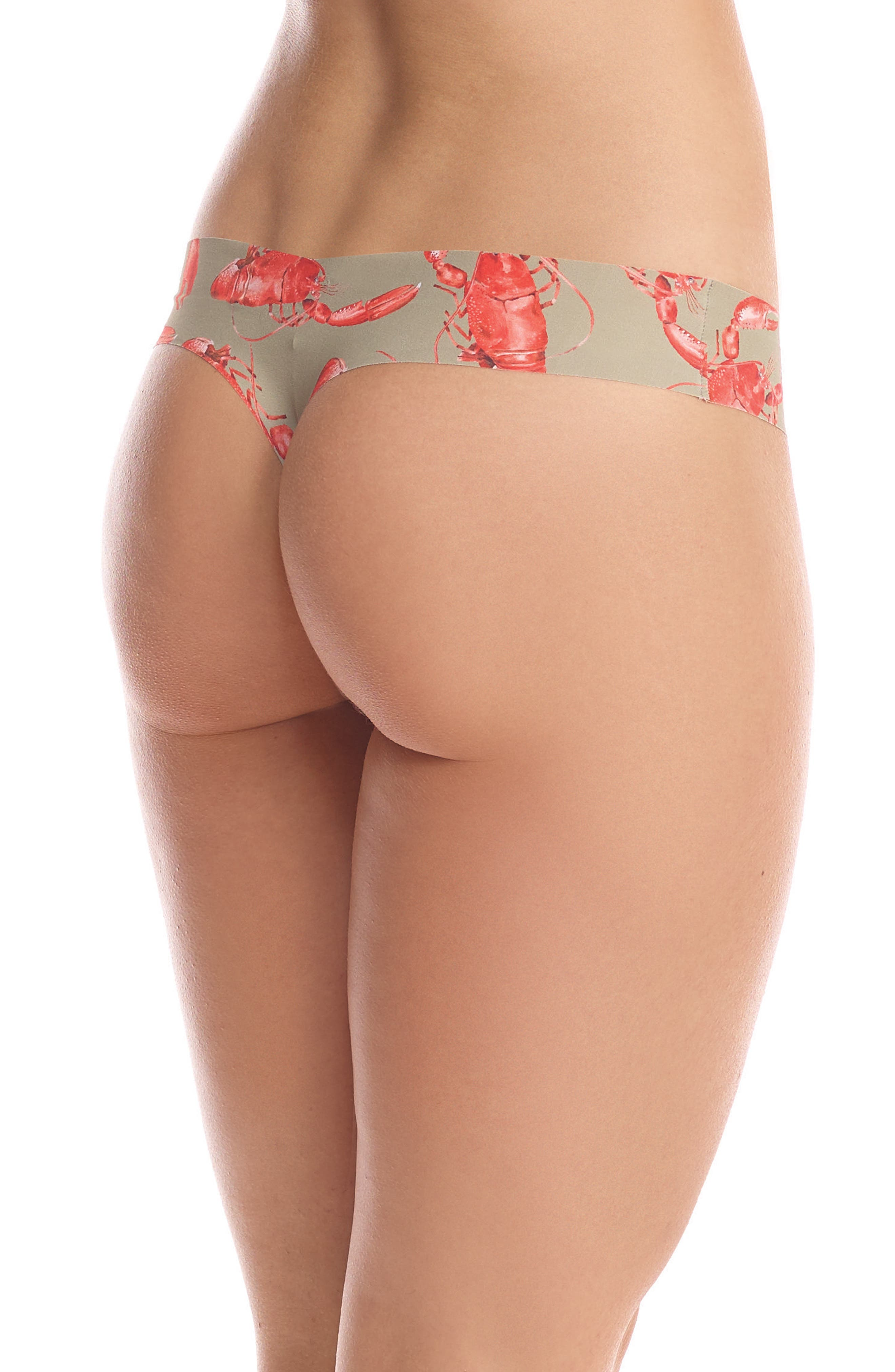Print Microfiber Thong,                             Alternate thumbnail 105, color,