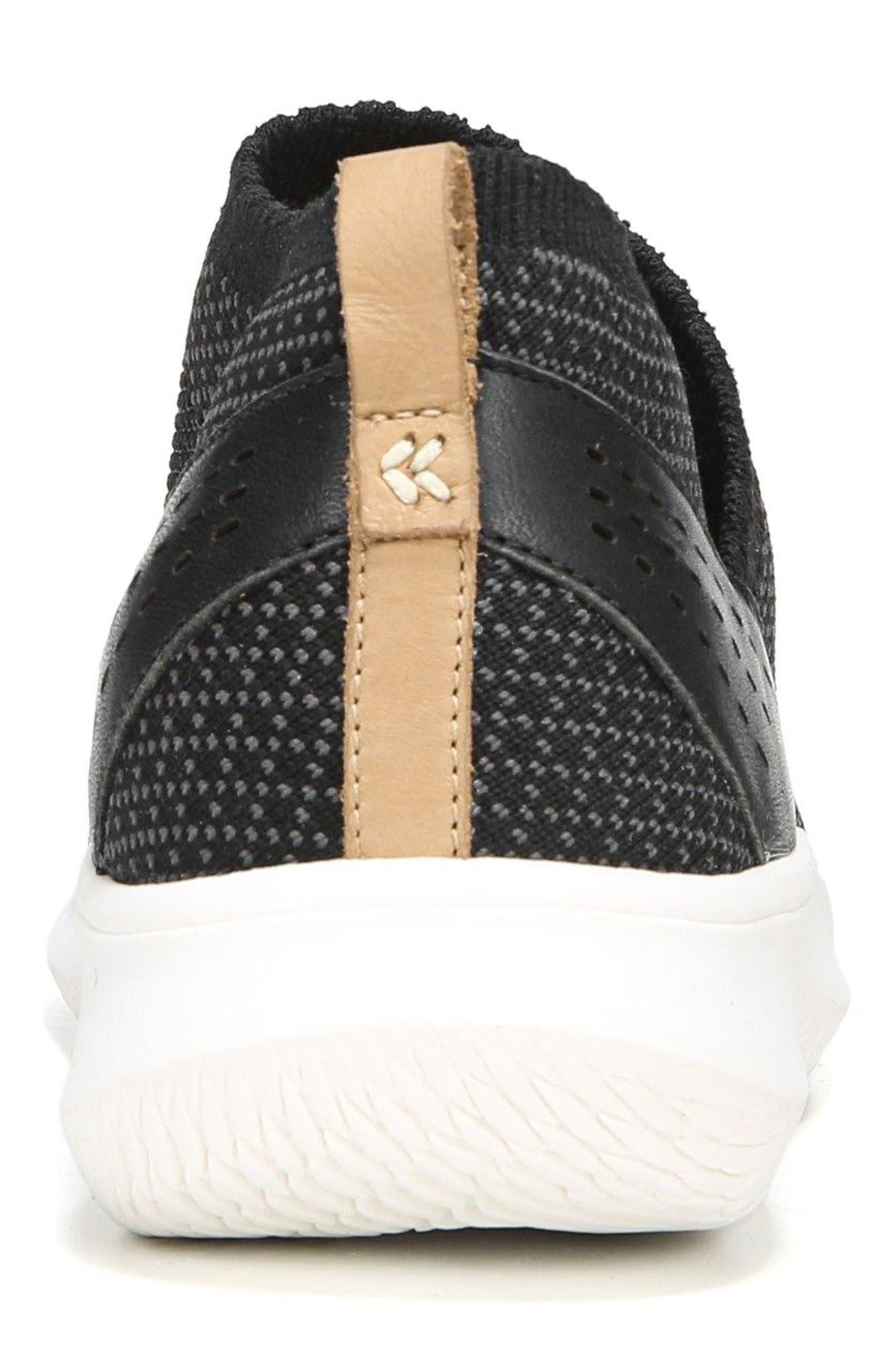 Fierce Knit Slip-On Sneaker,                             Alternate thumbnail 8, color,                             BLACK KNIT FABRIC