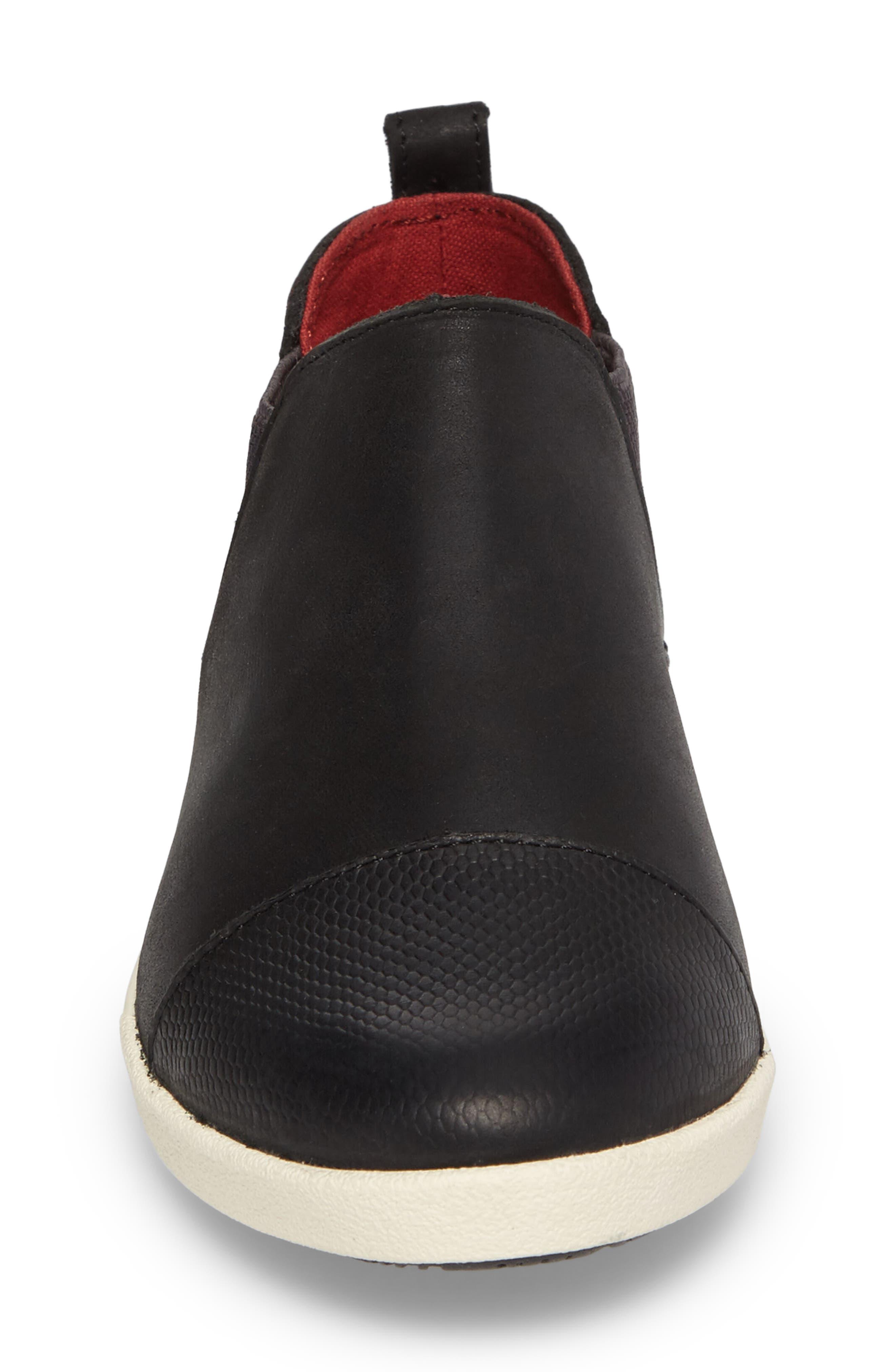 OLUKAI,                             Waipahe Chelsea Sneaker,                             Alternate thumbnail 4, color,                             001