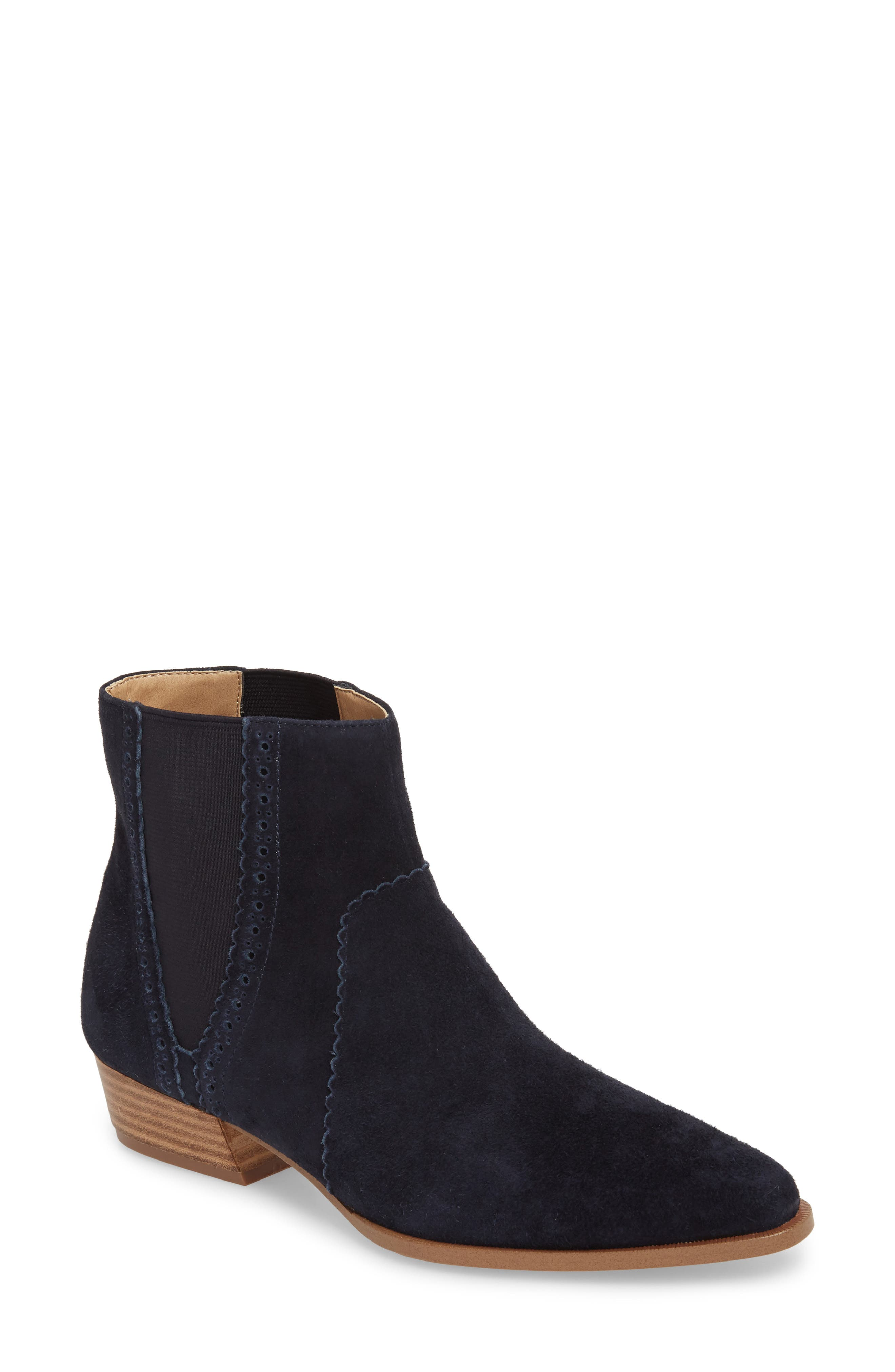 Mica Chelsea Bootie,                             Main thumbnail 1, color,                             SPACE CADET SUEDE