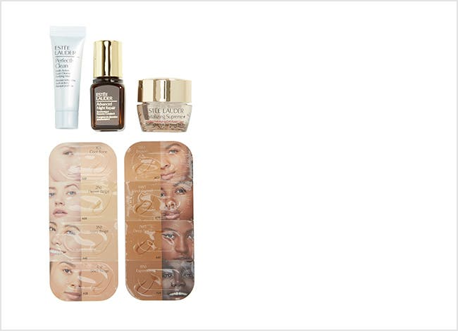 Estée Lauder beauty gift with purchase.