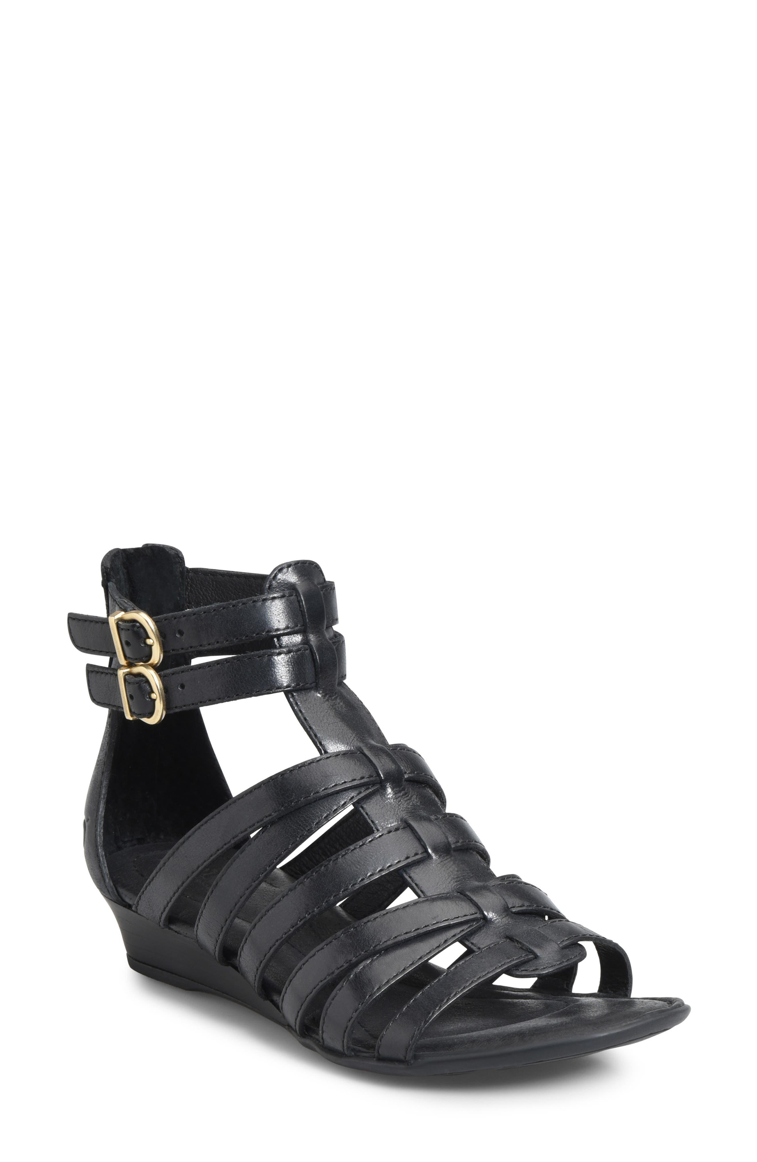 B?rn Challis Gladiator Sandal, Black