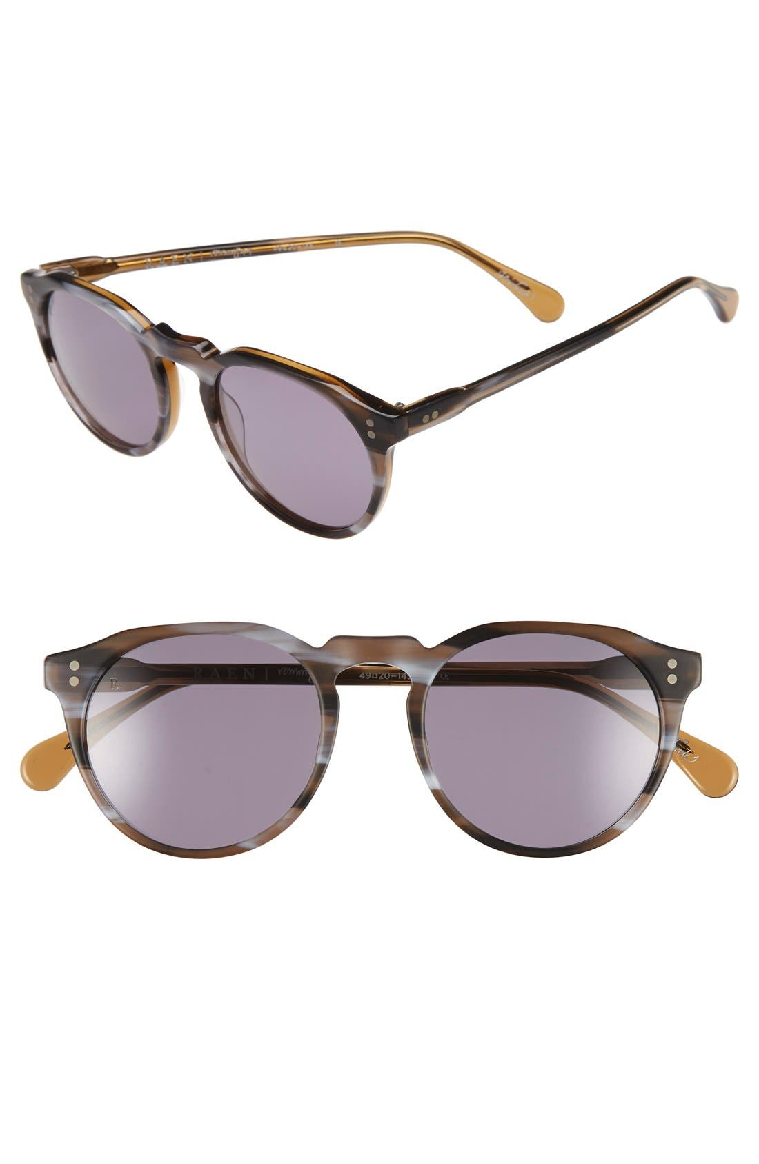 'Remmy' 49mm Polarized Sunglasses,                             Main thumbnail 1, color,                             CINDER