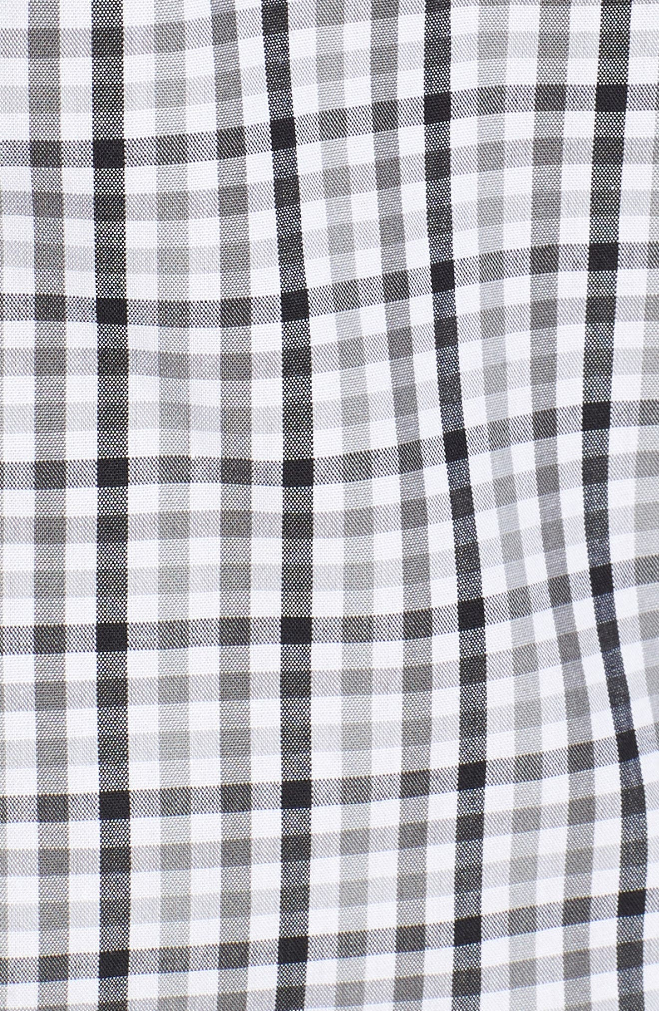 Carolina Panthers - Gilman Regular Fit Plaid Sport Shirt,                             Alternate thumbnail 5, color,                             BLACK