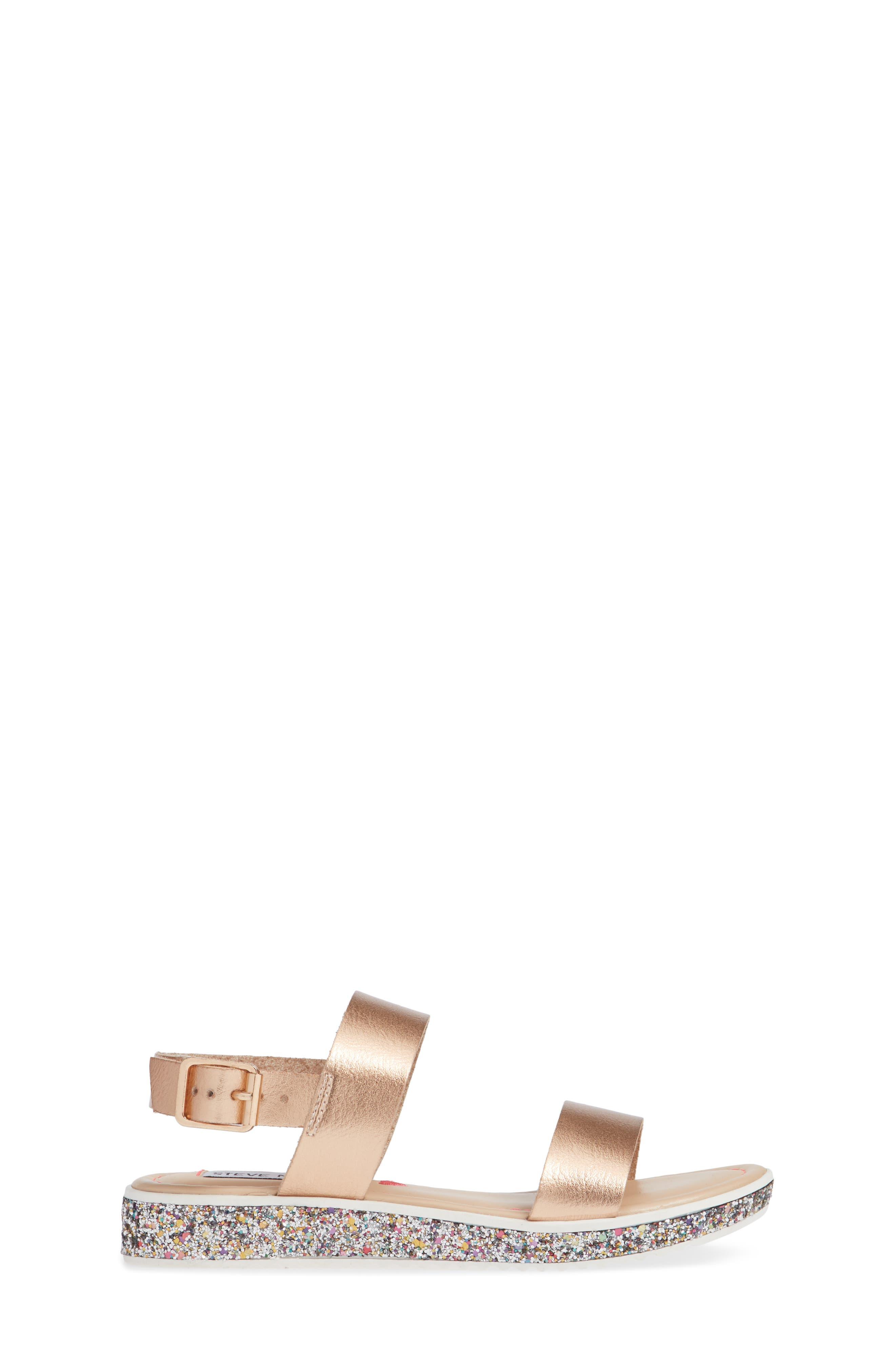 Gia Glitter Sandal,                             Alternate thumbnail 3, color,                             ROSE GOLD
