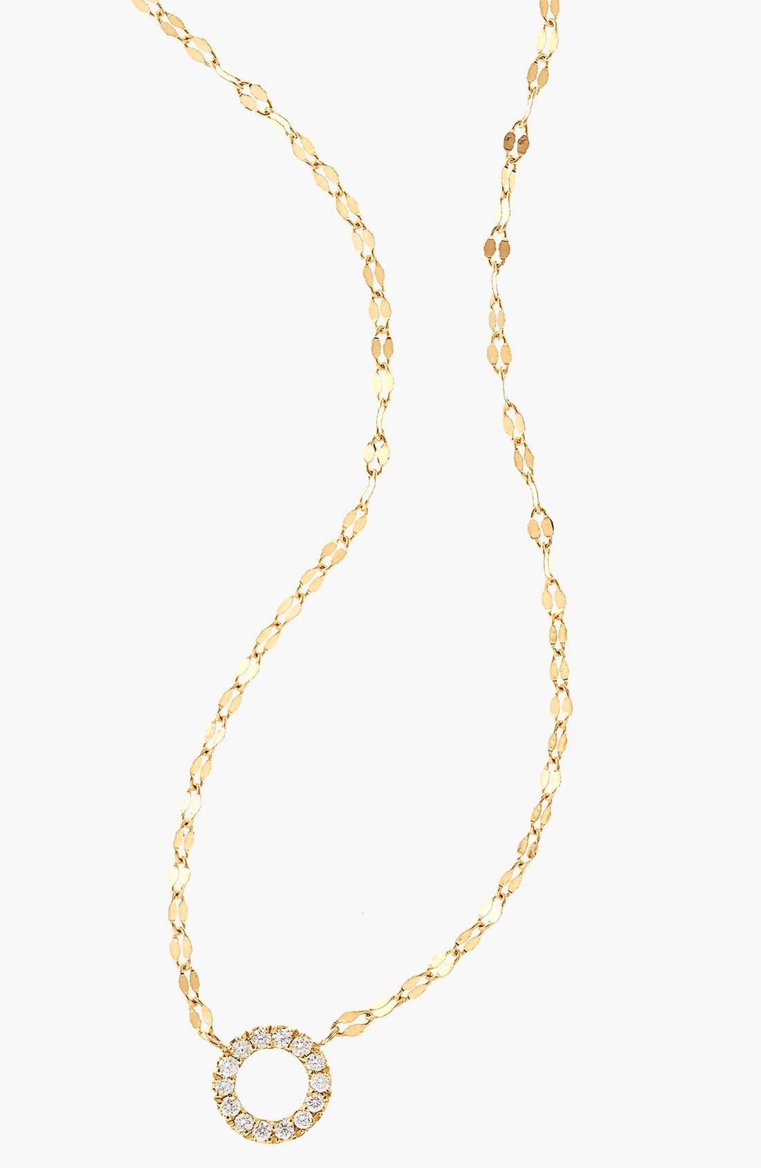 Diamond Pendant Necklace,                             Alternate thumbnail 5, color,                             DIAMOND CIRCLE