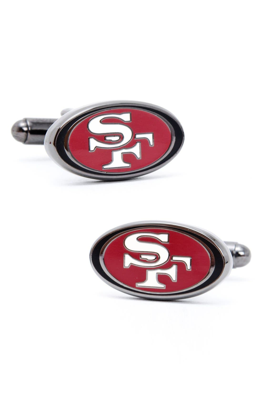 'San Francisco 49ers' Cuff Links,                             Main thumbnail 1, color,                             RED