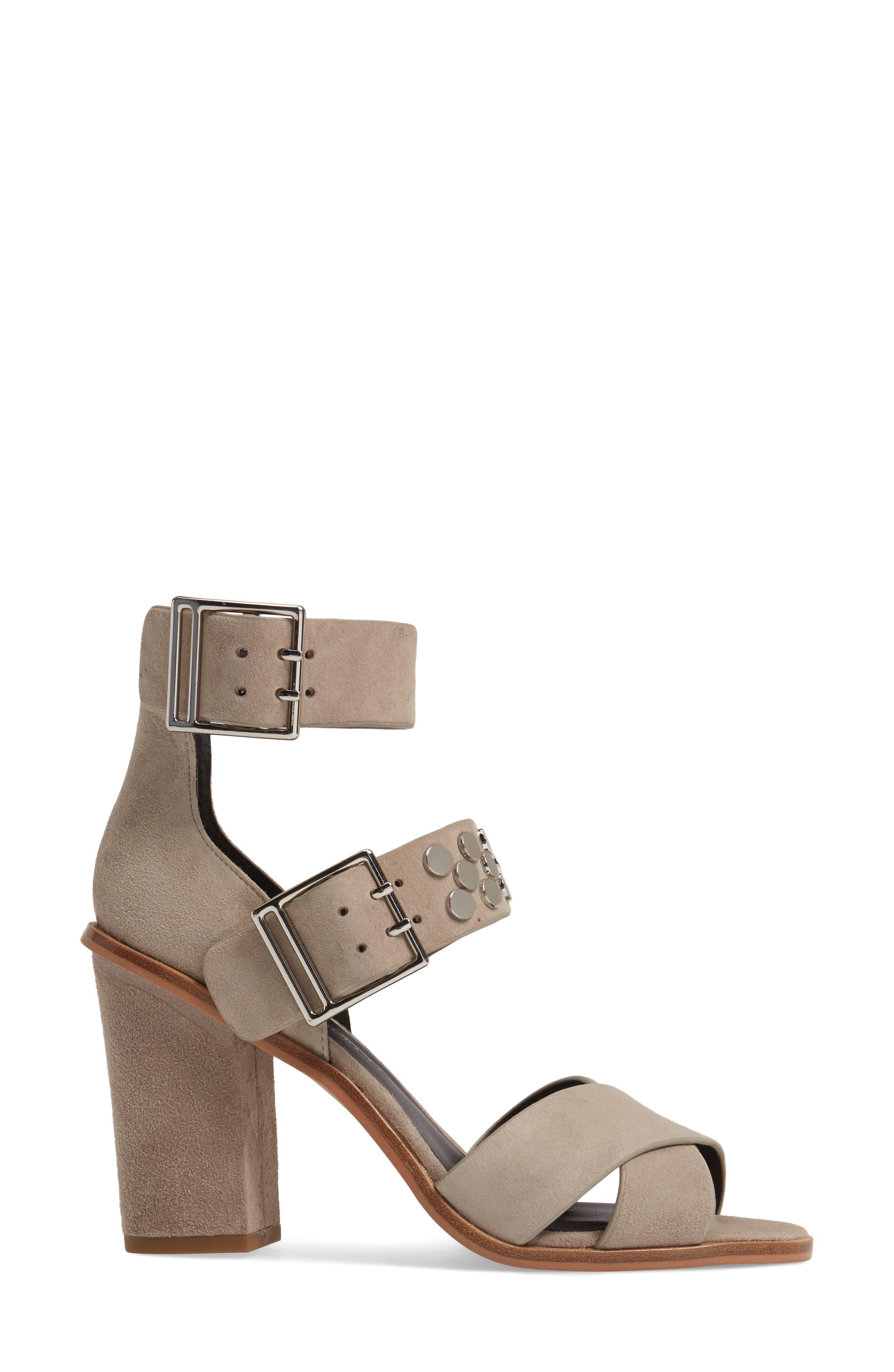 Jennifer Studded Ankle Cuff Sandal,                             Alternate thumbnail 8, color,