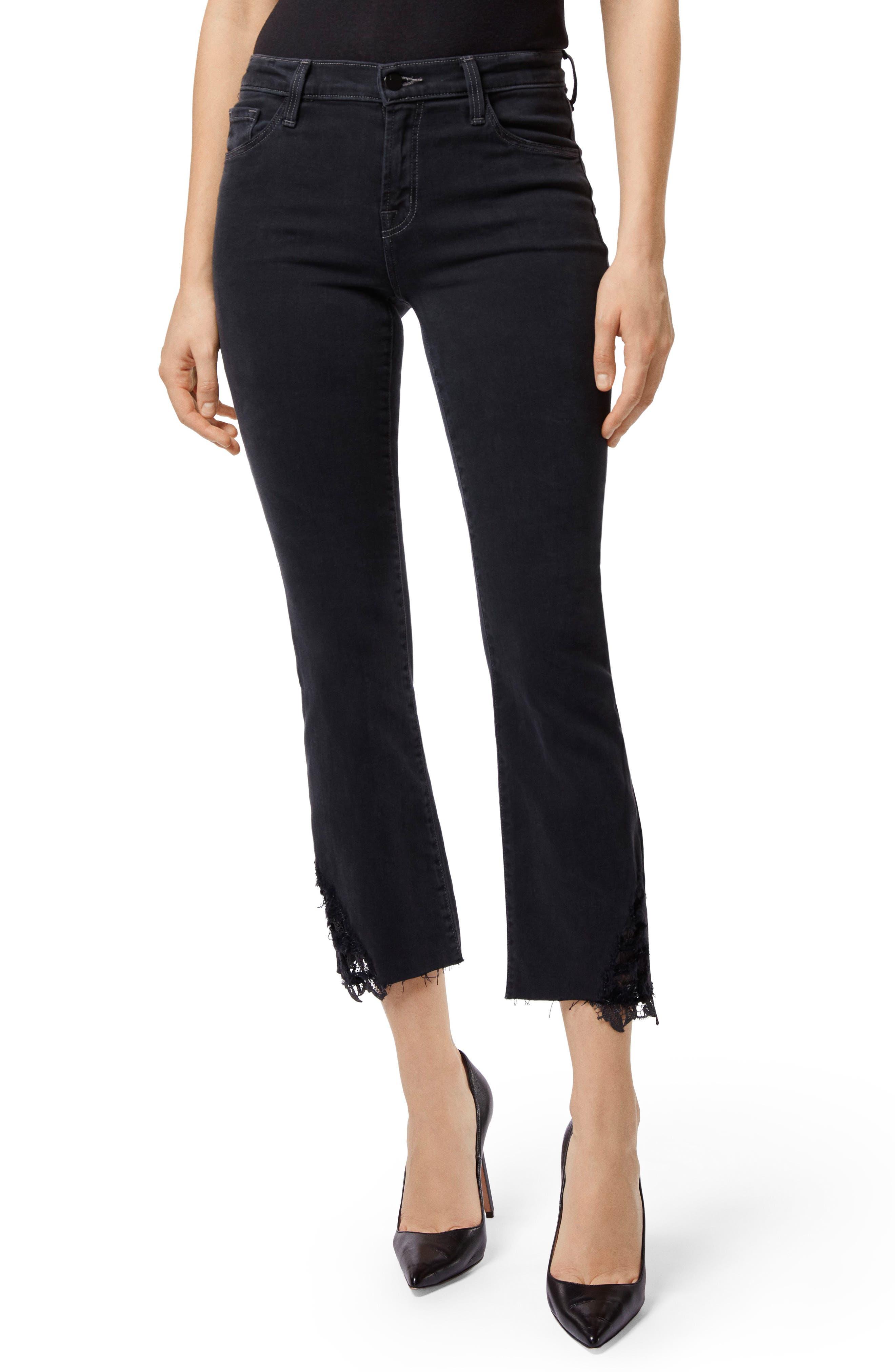 J BRAND Selena Crop Bootcut Jeans, Main, color, 001