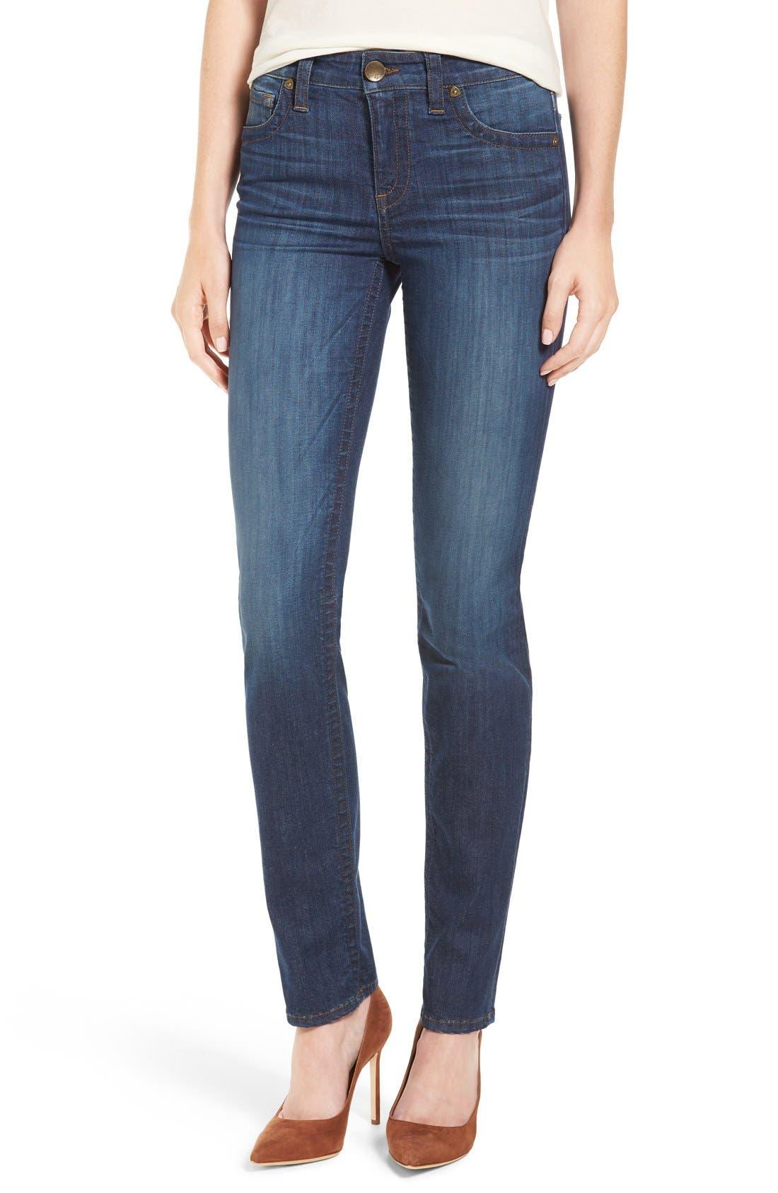 'Stevie' Stretch Straight Leg Jeans,                             Main thumbnail 1, color,                             400
