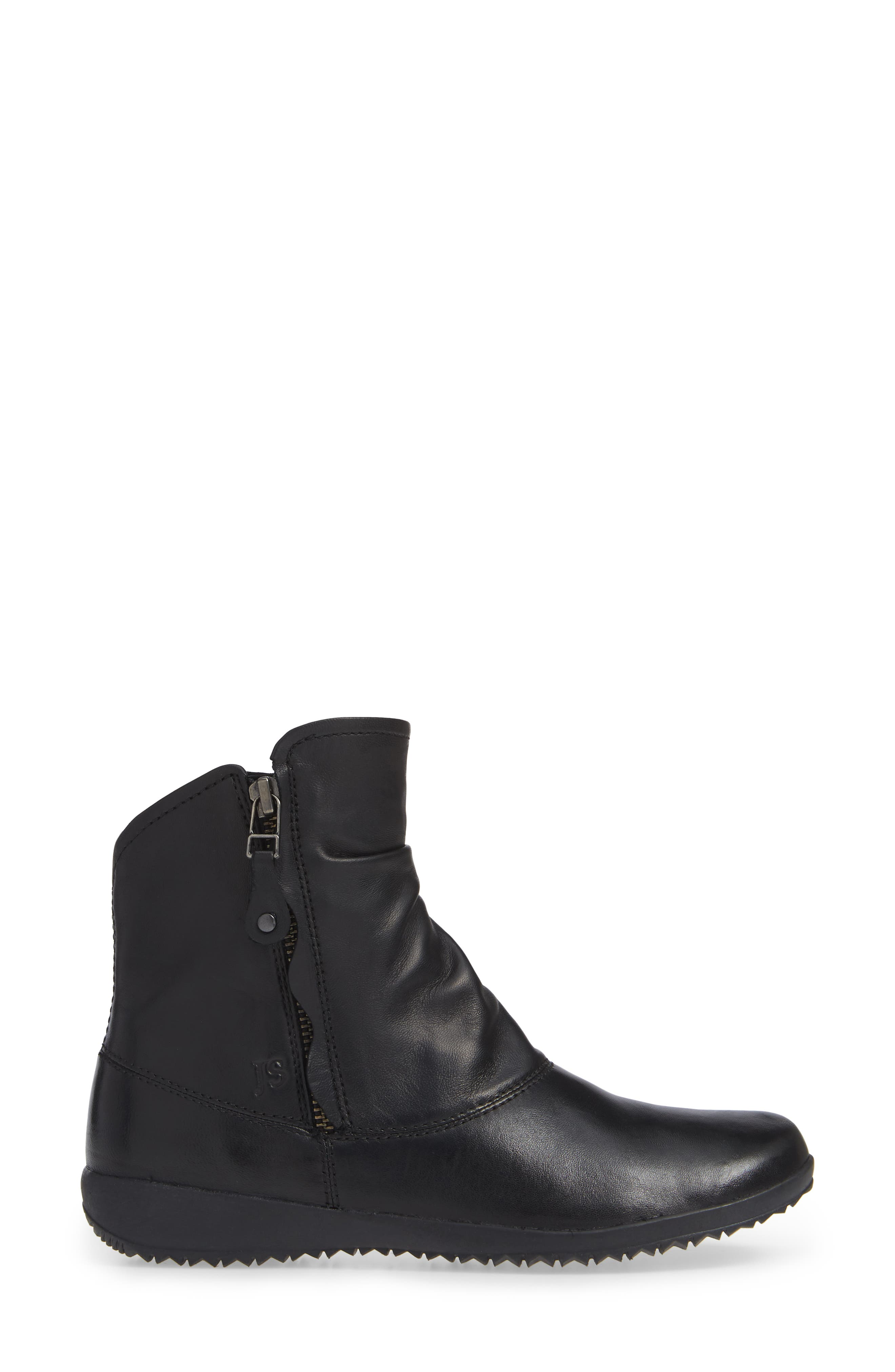 JOSEF SEIBEL,                             Naly 24 Bootie,                             Alternate thumbnail 3, color,                             BLACK LEATHER