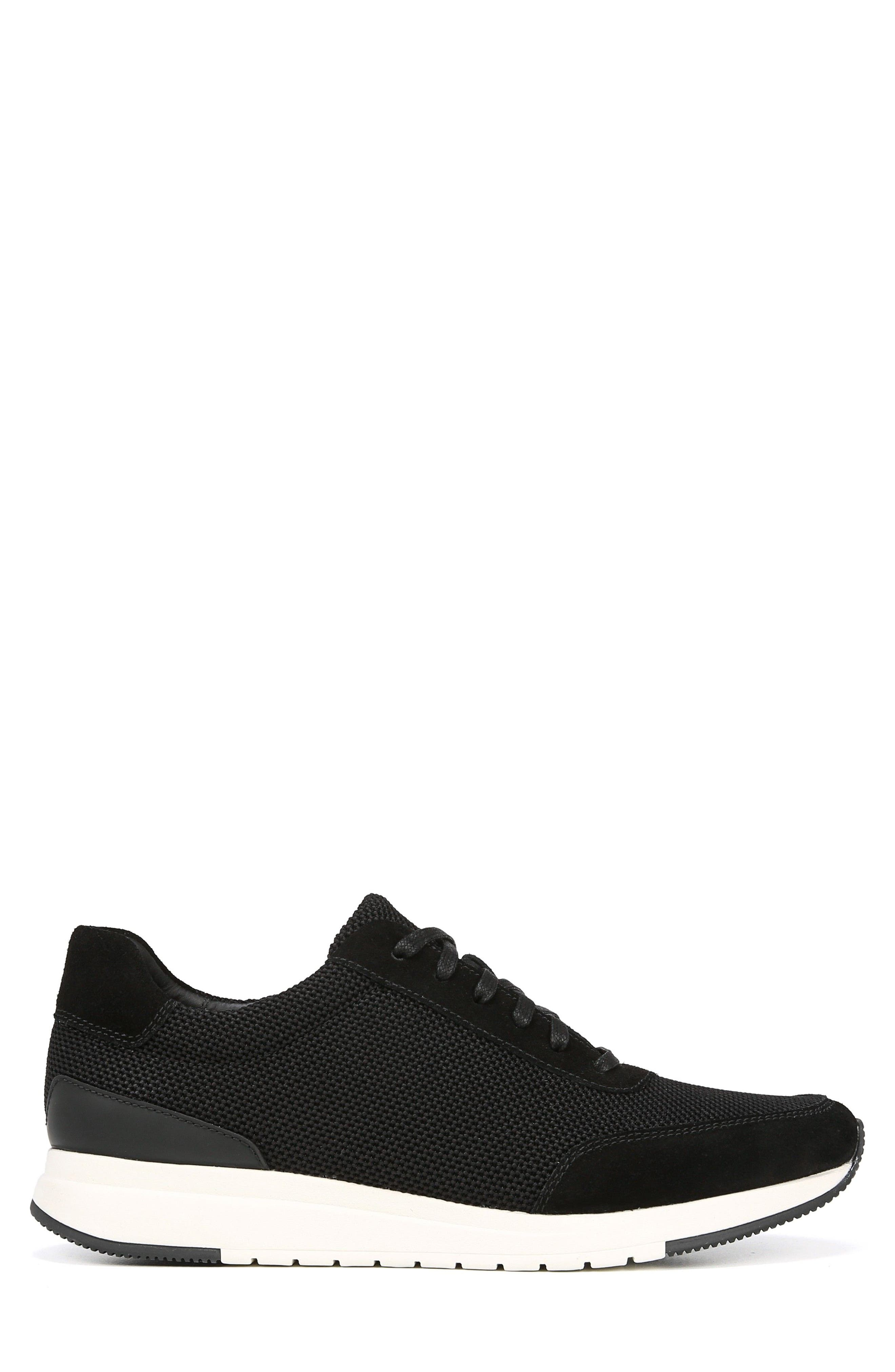 Payton Mesh Sneaker,                             Alternate thumbnail 3, color,                             BLACK