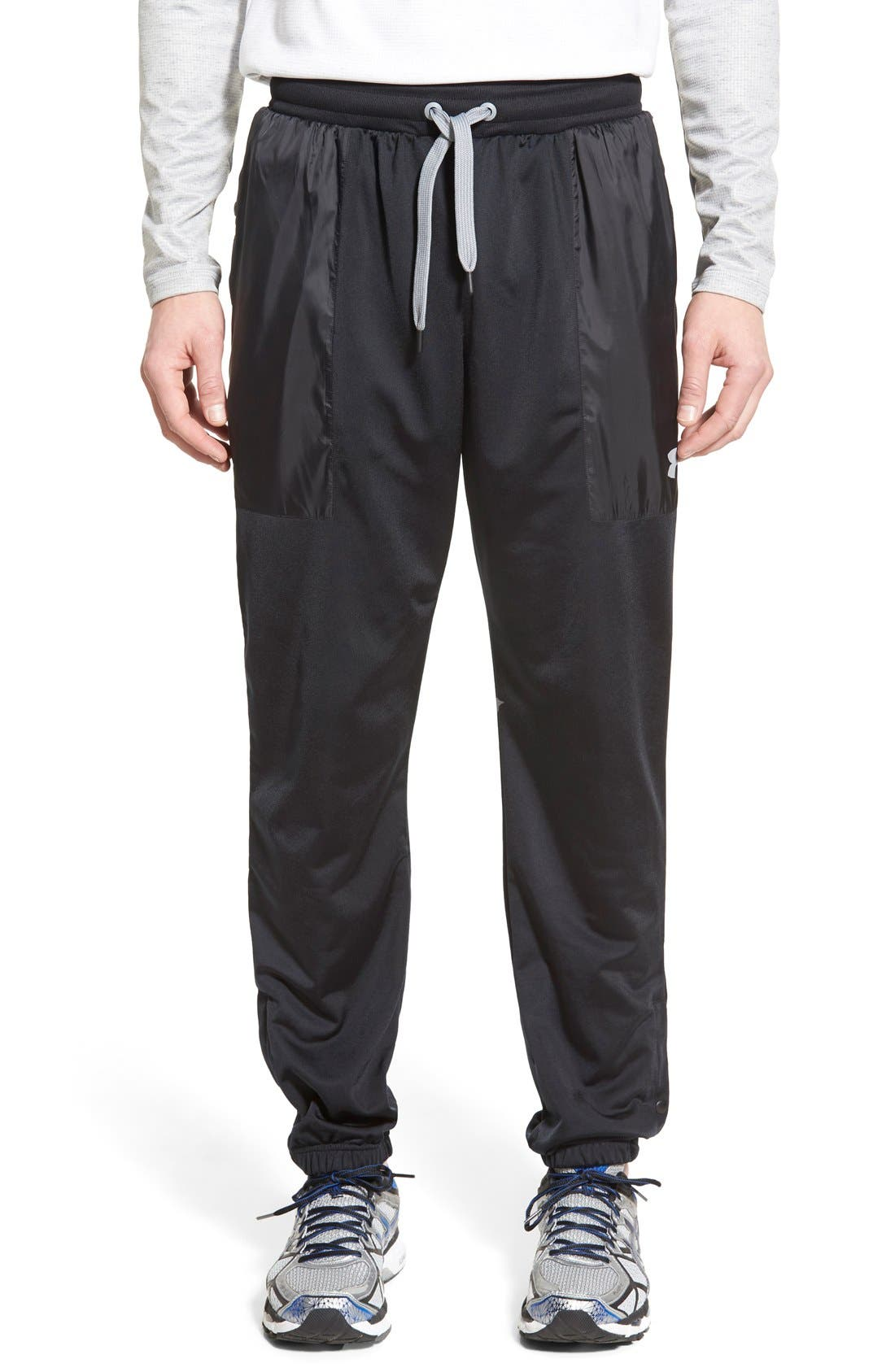 UNDER ARMOUR 'Diddy Bop' Moisture Wicking Training Pants, Main, color, 001