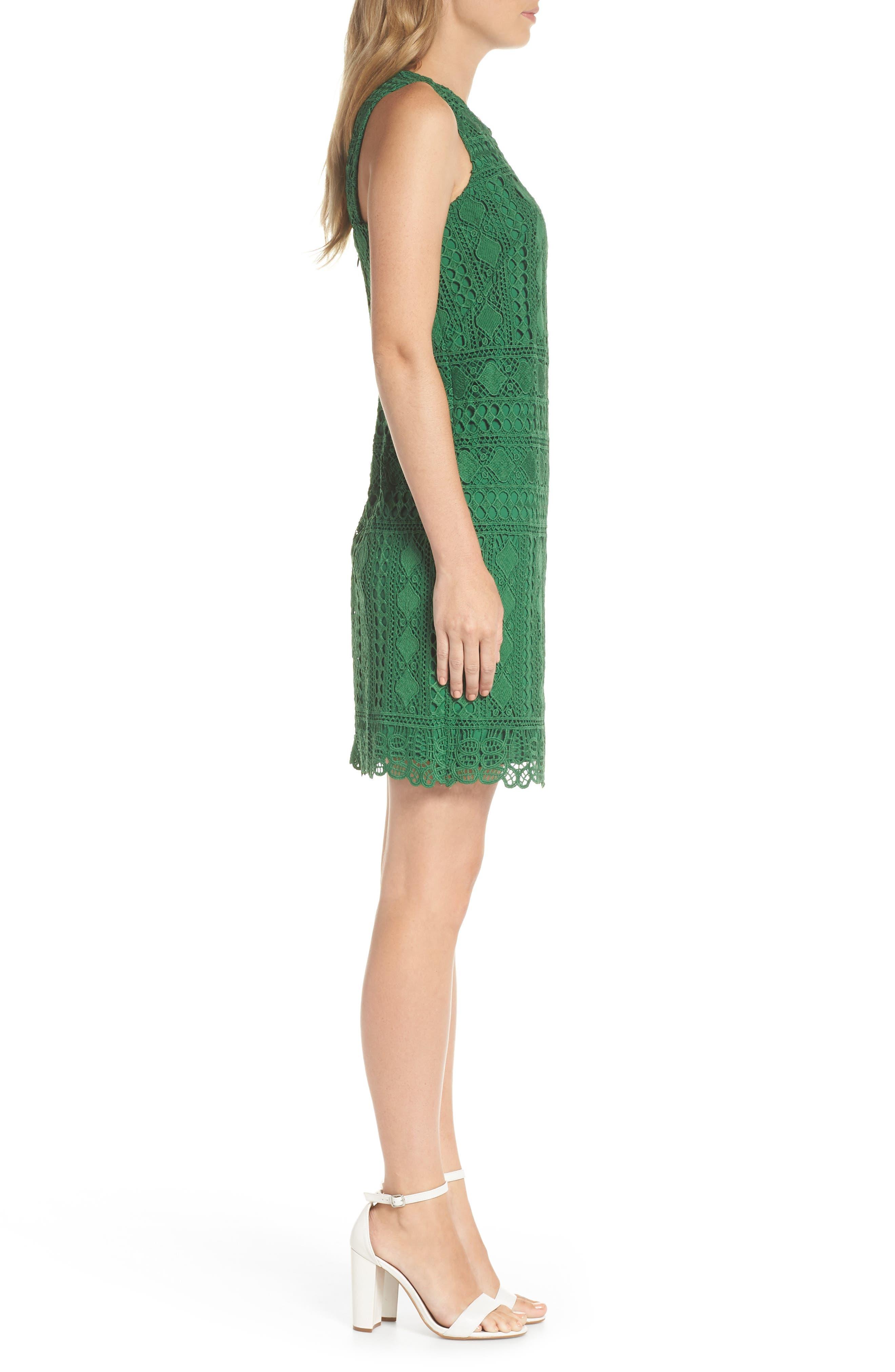 Lace Sheath Dress,                             Alternate thumbnail 3, color,                             310