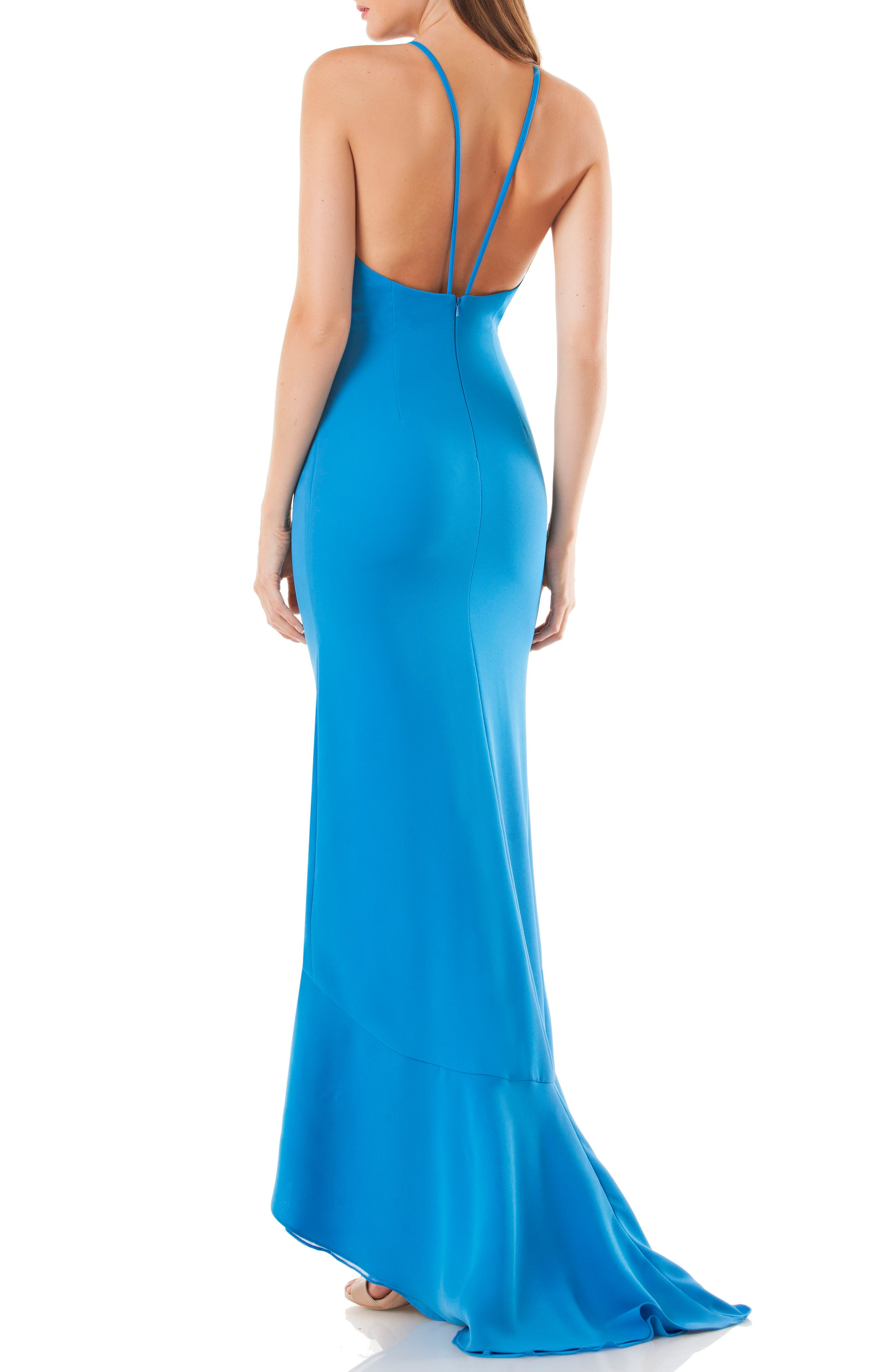 Cascading Ruffle Gown,                             Alternate thumbnail 2, color,                             400