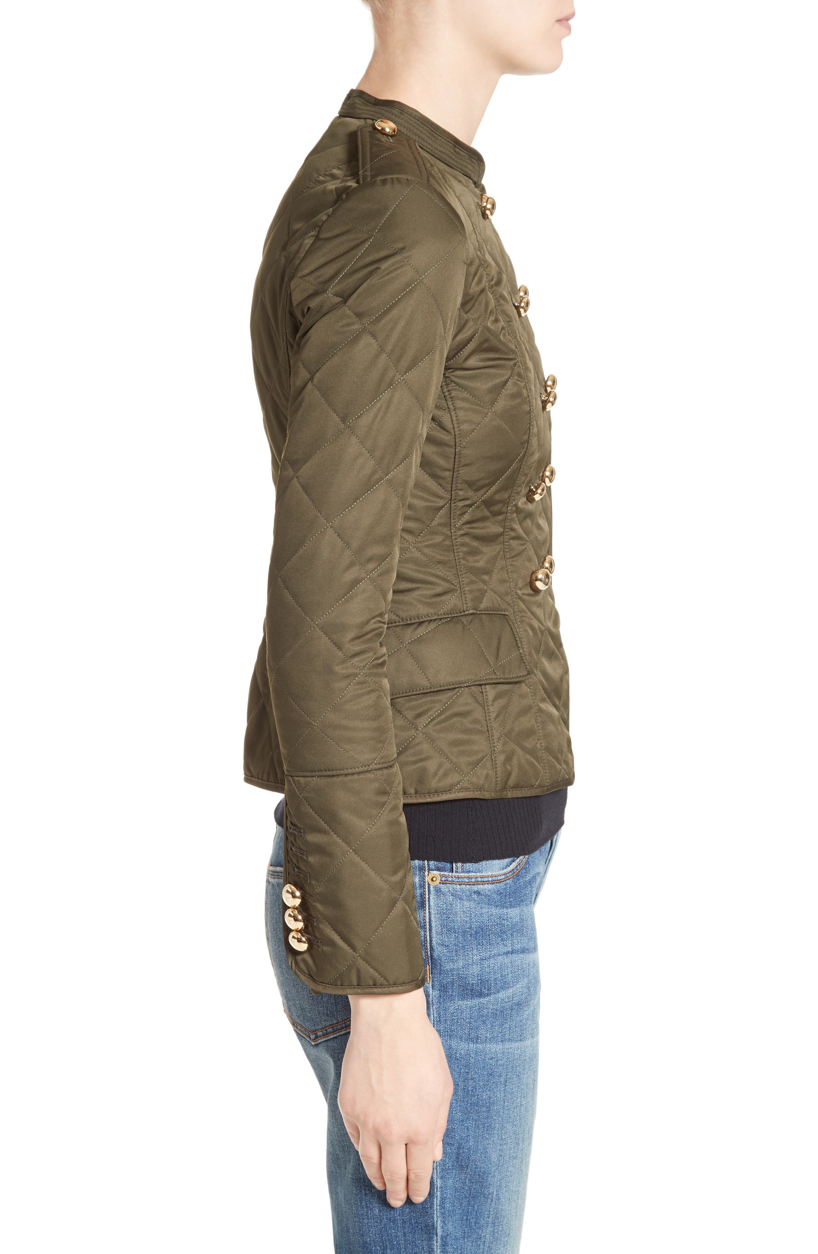 Boscastle Quilted Military Jacket,                             Alternate thumbnail 3, color,                             301