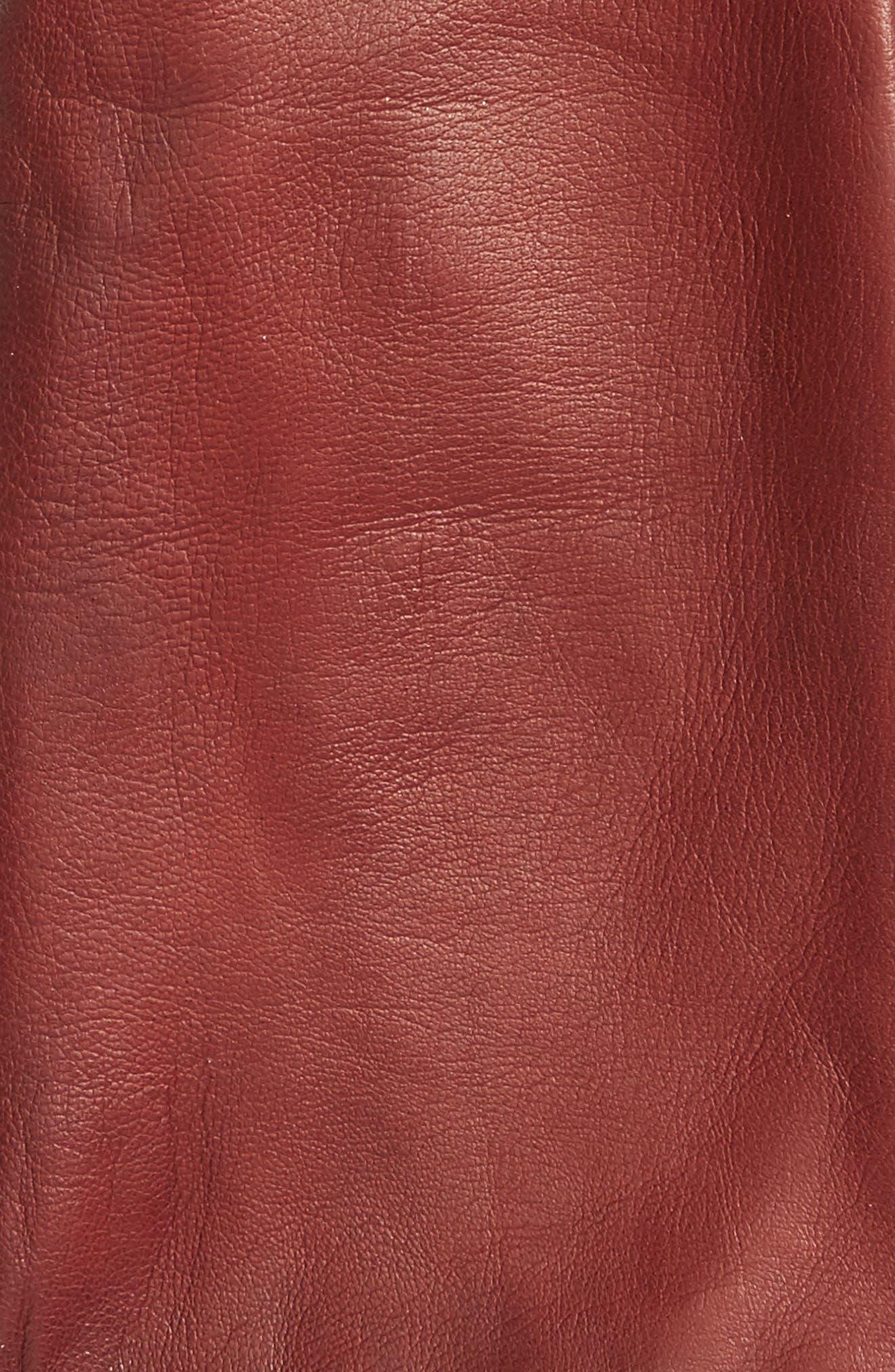 Long Leather Gloves,                             Alternate thumbnail 4, color,
