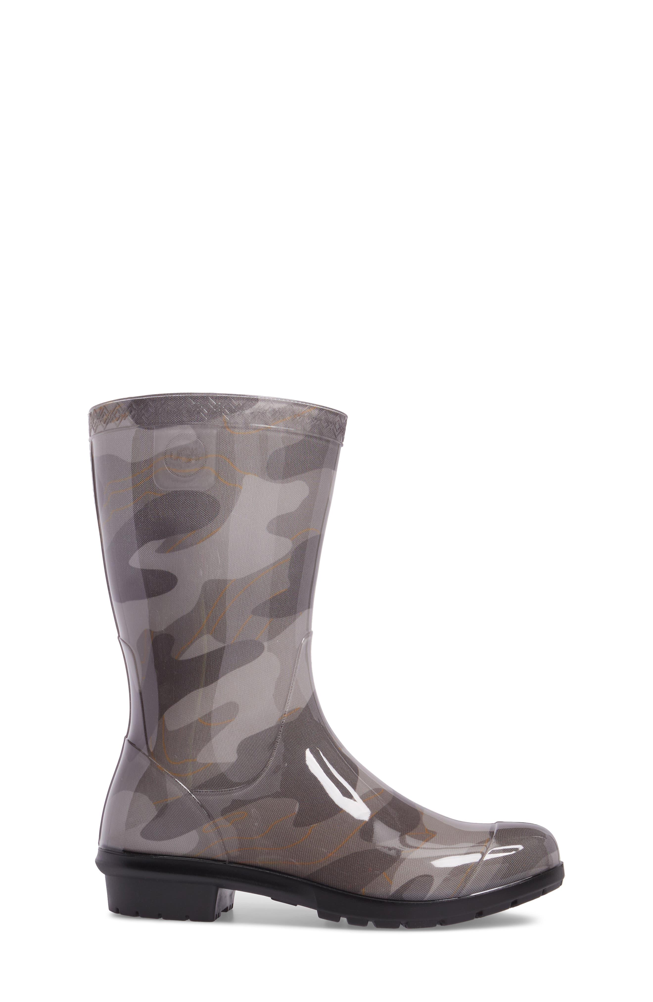 Rahjee Camo Waterproof Rain Boot,                             Alternate thumbnail 3, color,                             020
