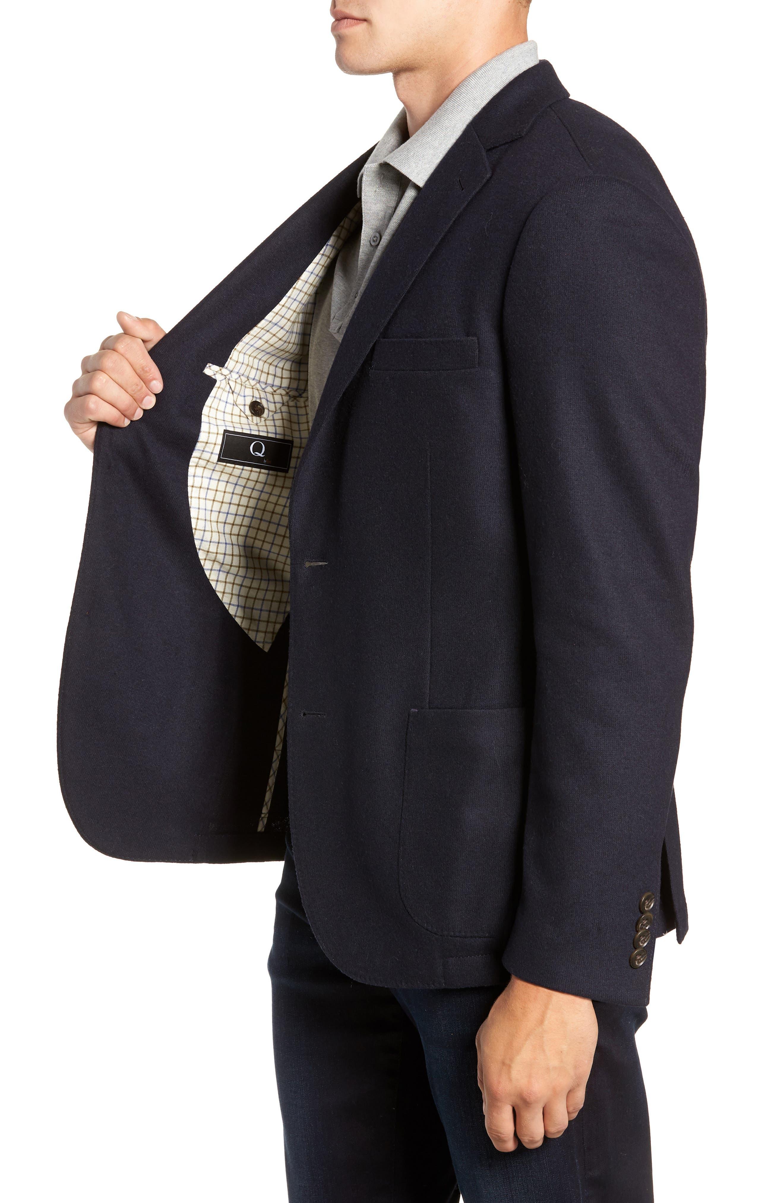 Regular Fit Wool Blend Sport Coat,                             Alternate thumbnail 3, color,                             NAVY