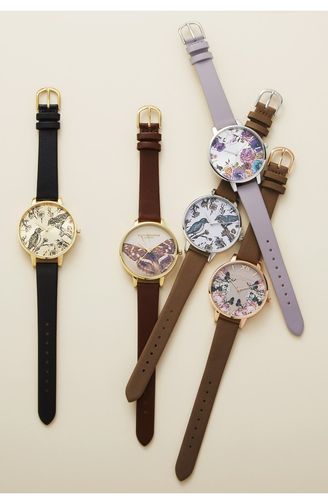 'Animal Motif' Leather Strap Watch, 38mm,                         Main,                         color, 001